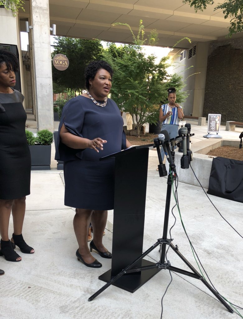 Democratic Gubernatorial candidate Stacey Abrams on the campaign trail in Atlanta