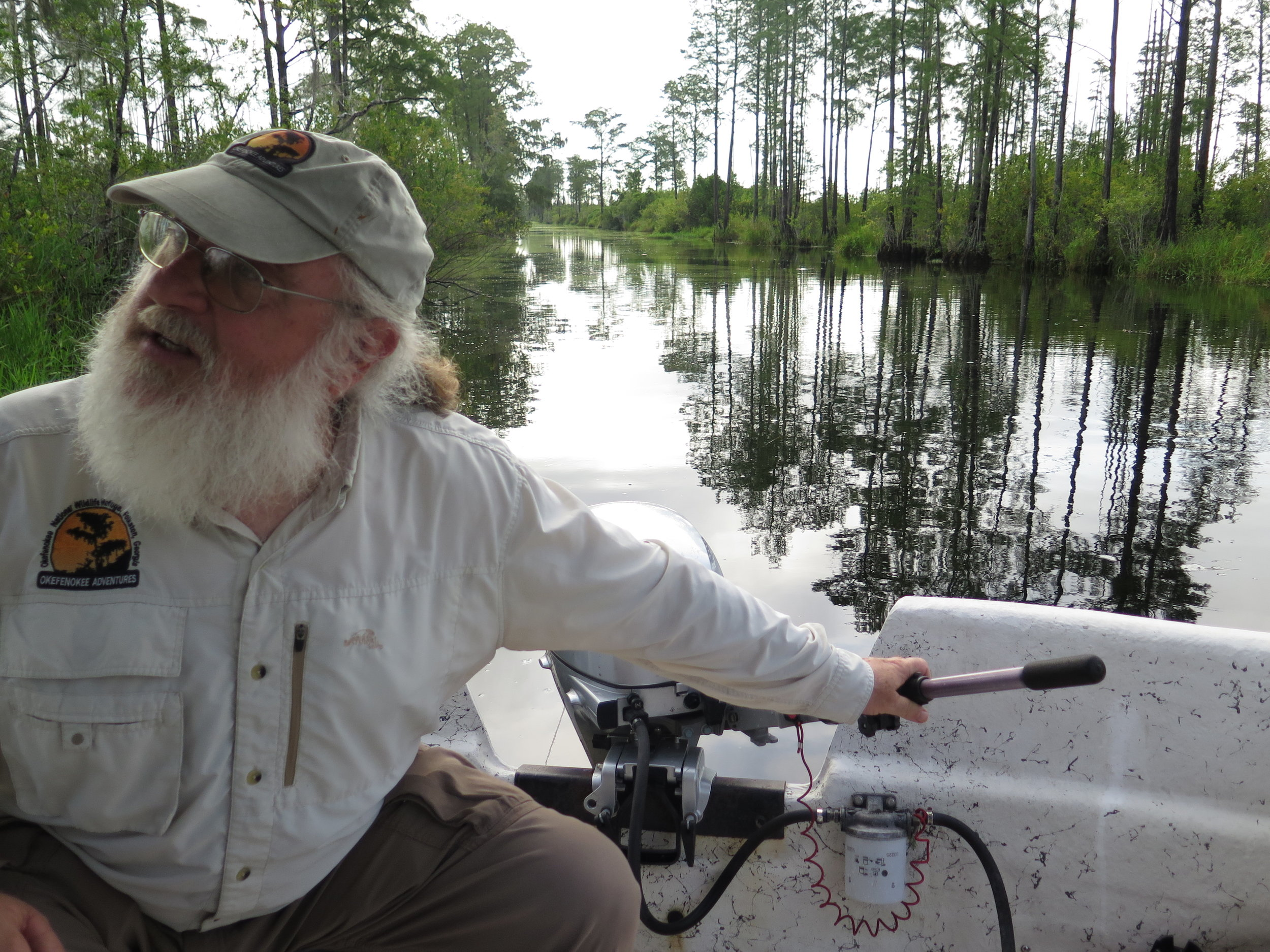 Chip Campbell, my guide through the Okefenokee Swamp.