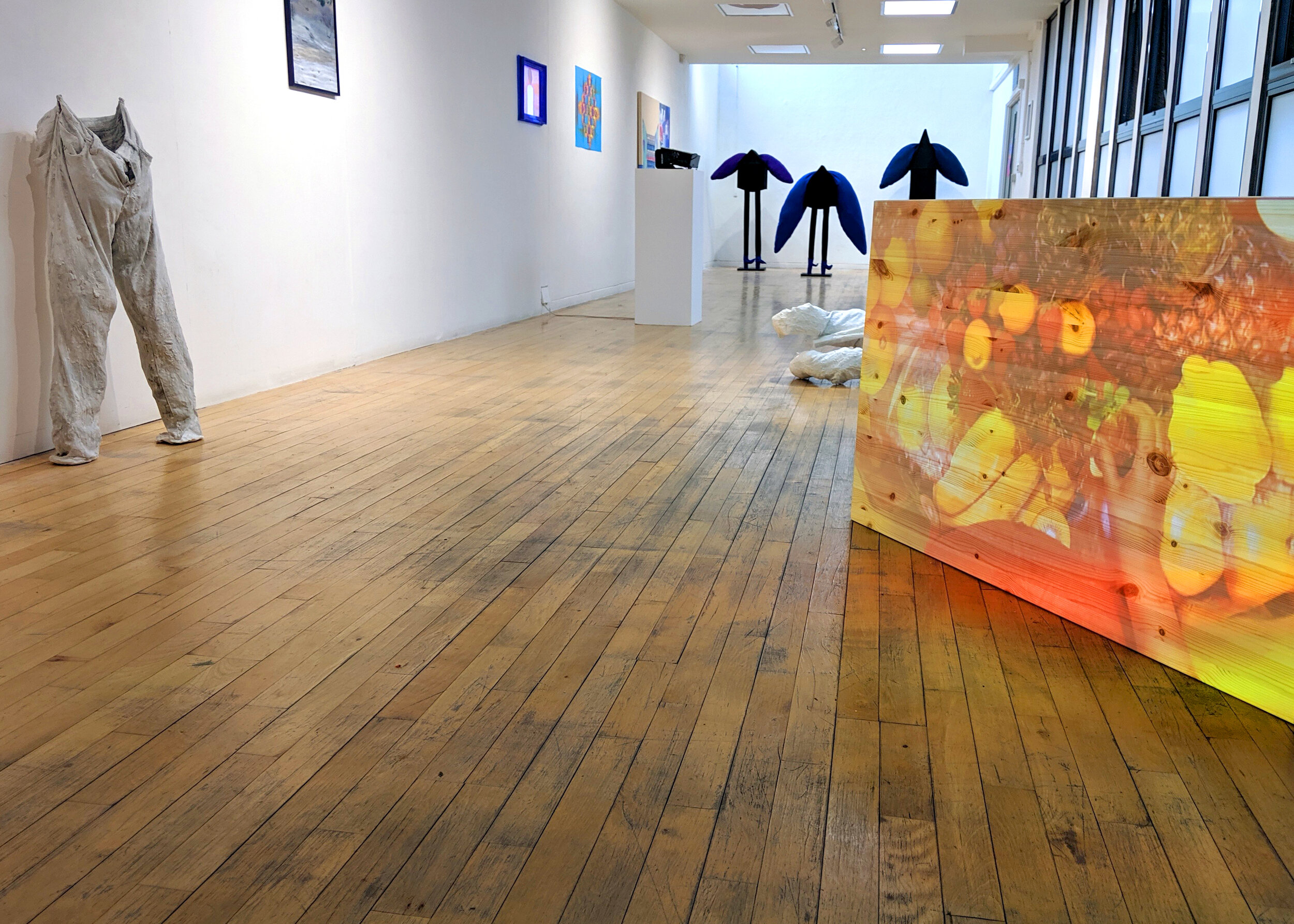 Kitchen Table, shown as projection on pine table, NCL LDN, group show, Long Gallery and Ex Libris, Hatton Gallery, Newcastle.