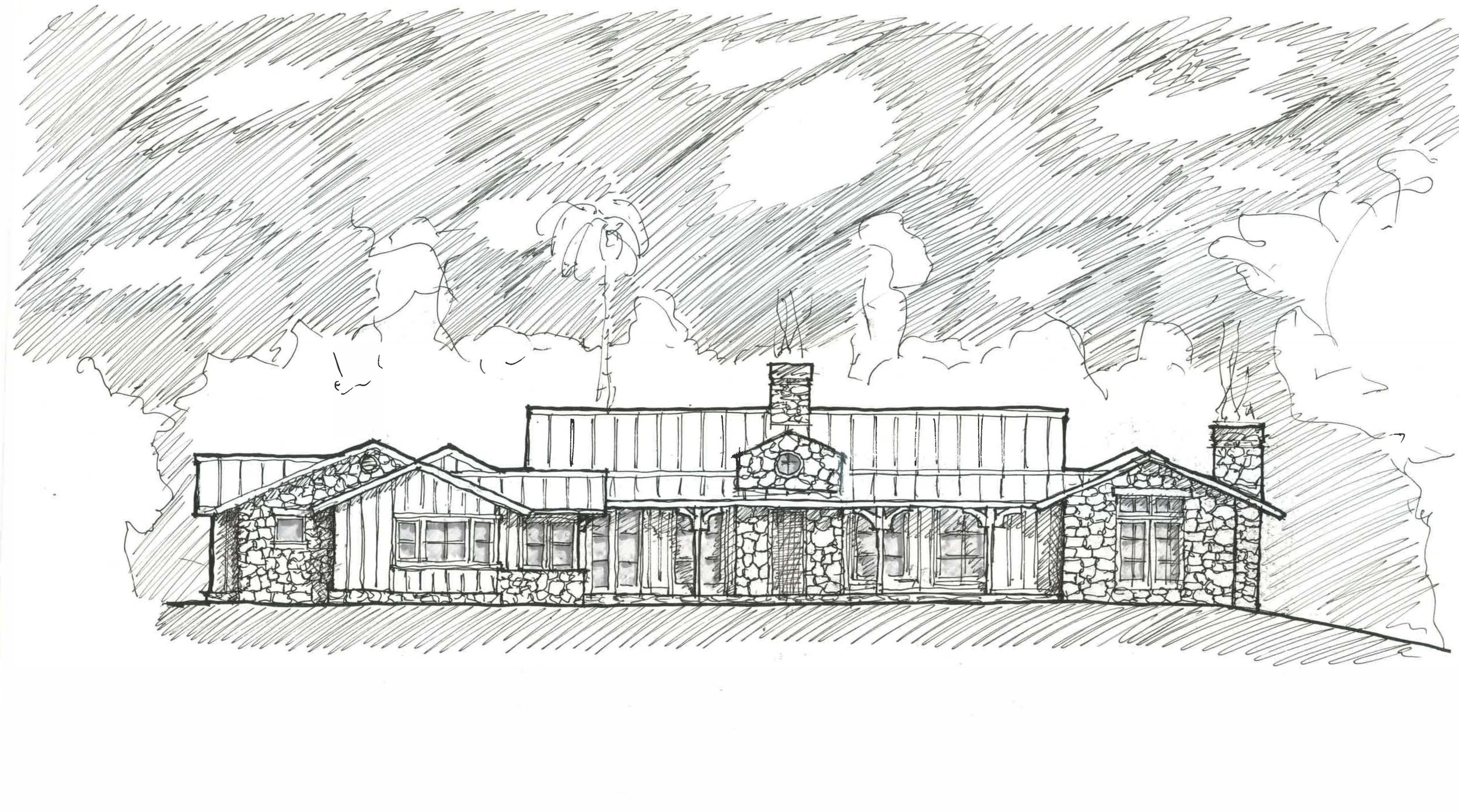 Sketch for New Residence - Montecito, CA