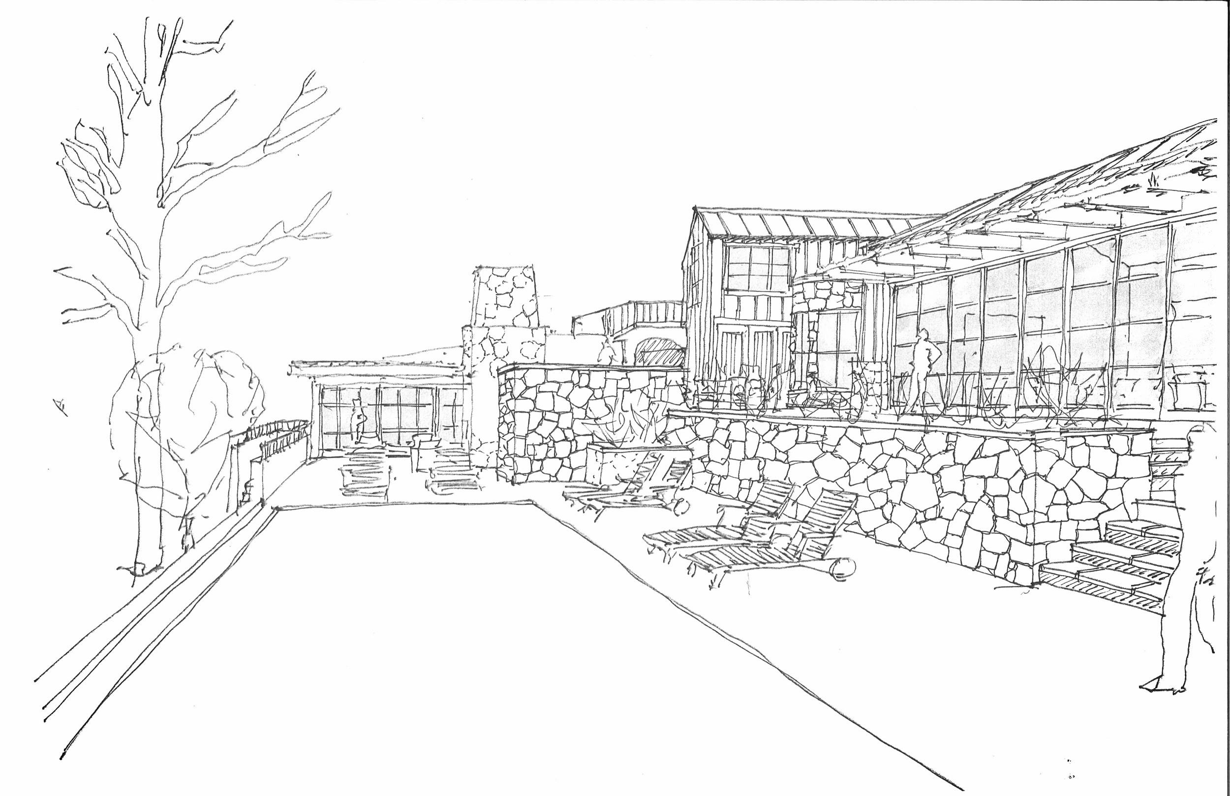Sketch for New Residence - Montecito, CA