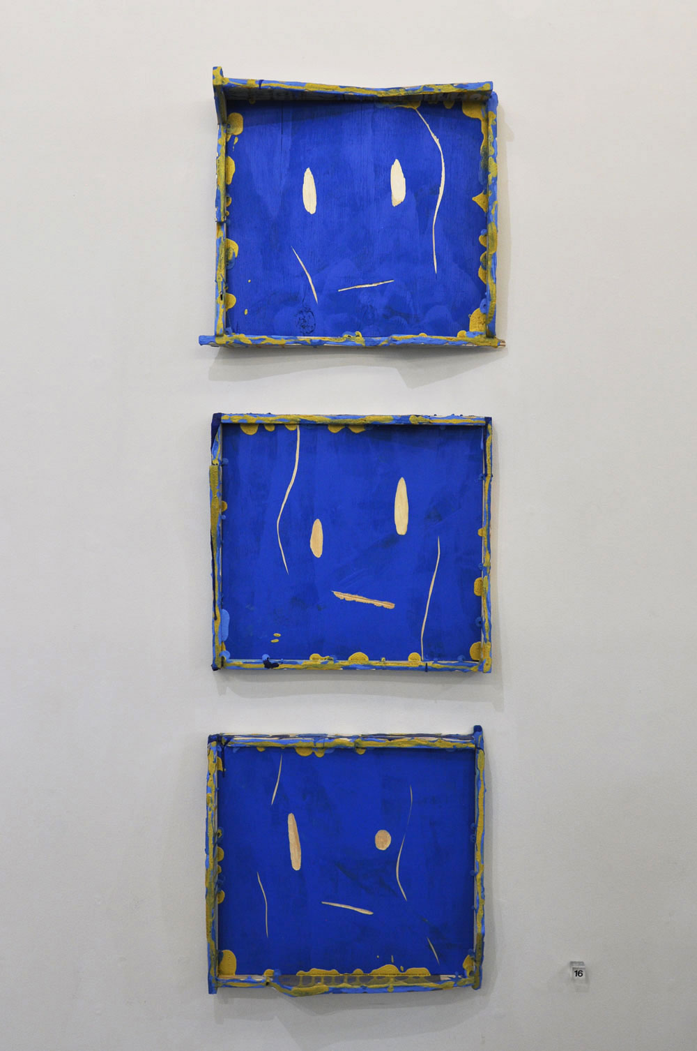 Blue Faces (Triptych)