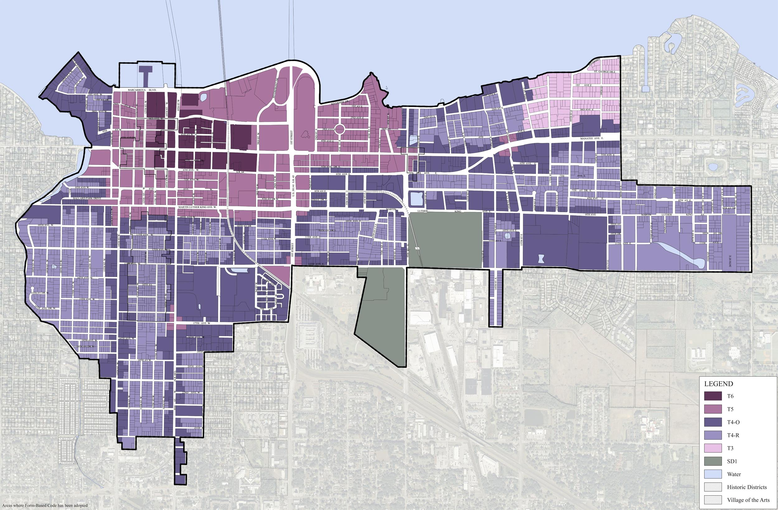 Regulating Plan - Transect Zones