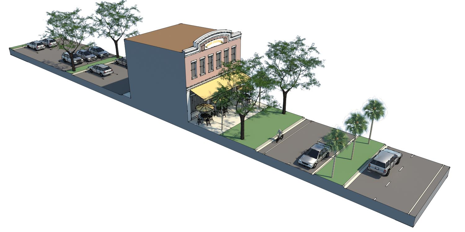 proposed mixed-use frontage