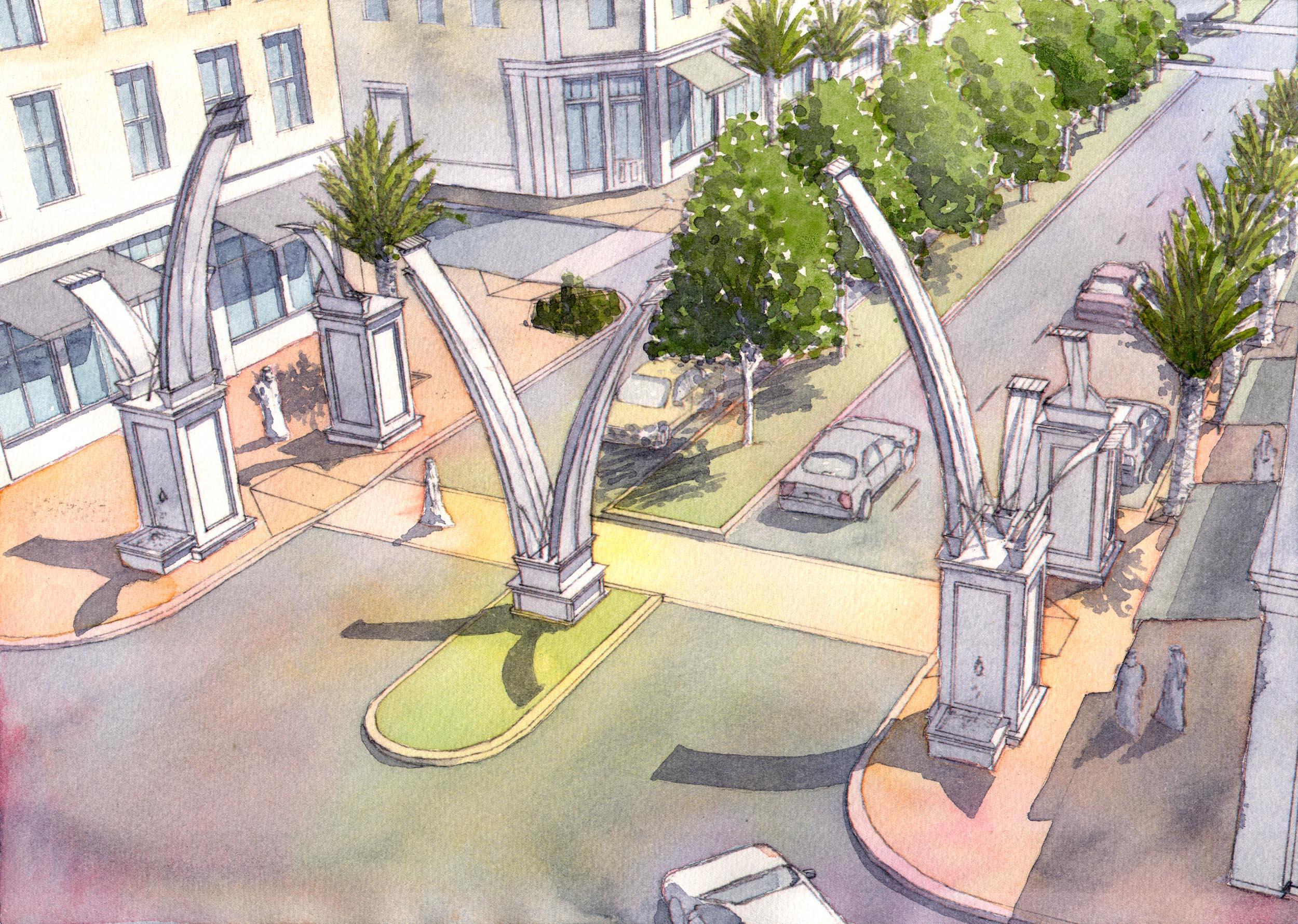 Gateway to Hamad Al Jaser street