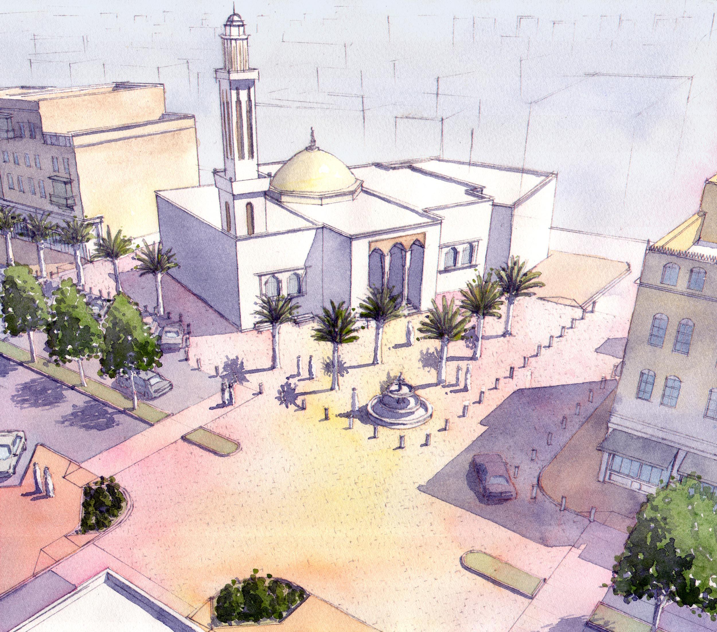 Hamad Al Jaser mosque plaza