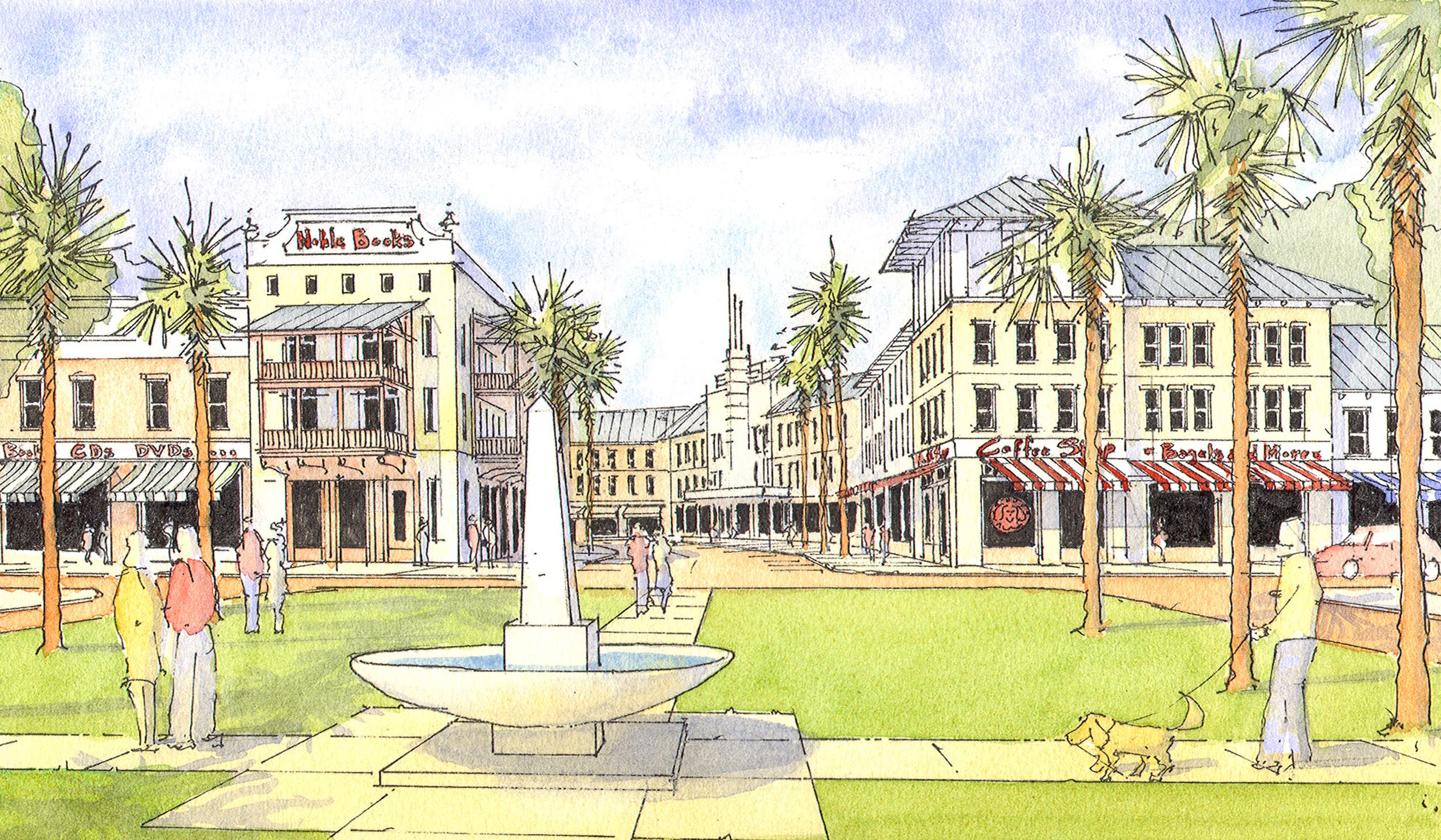 Beaufort Plaza as a mixed-use center