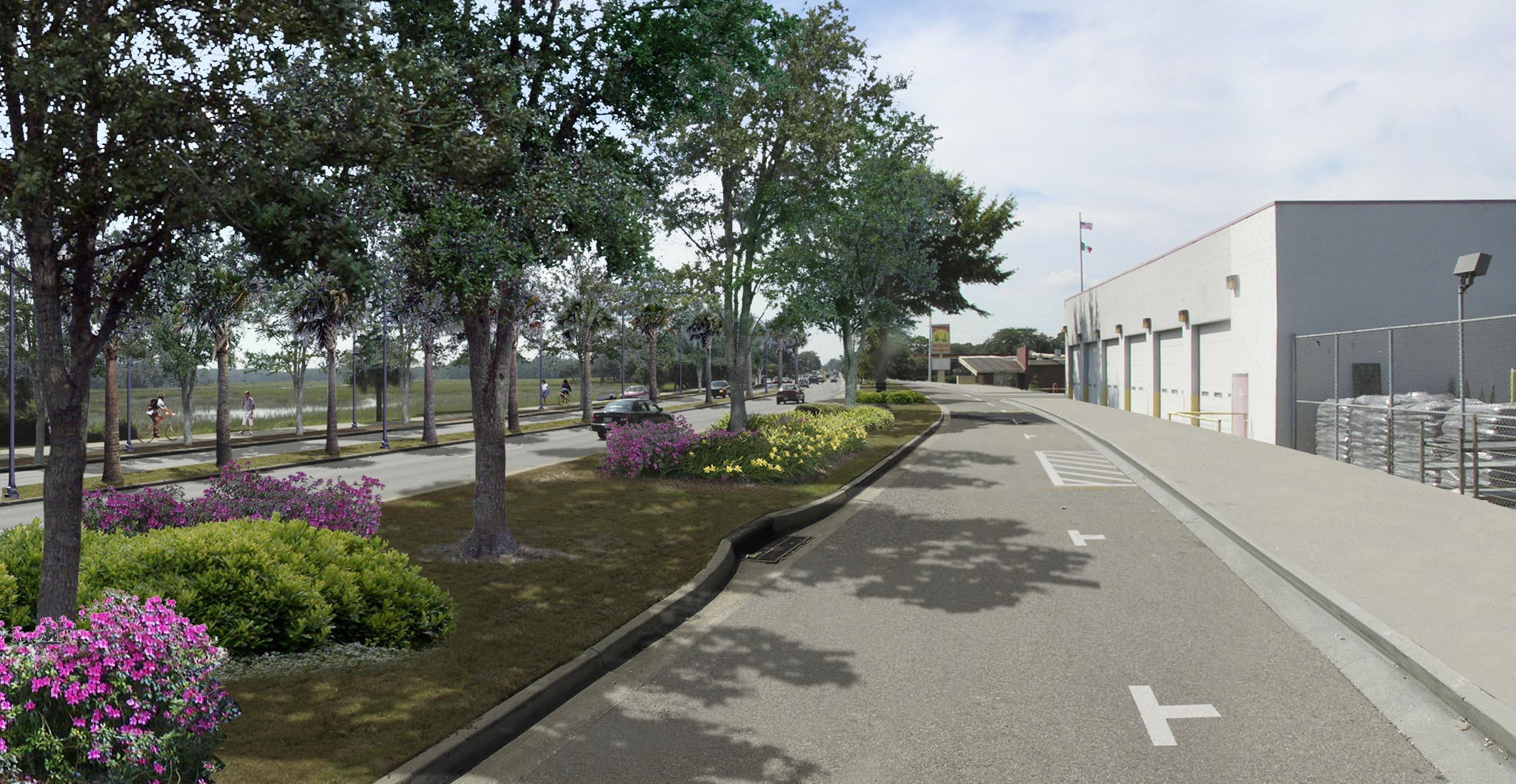 Boundary Street - proposed street improvements. Image by Urban Advantage