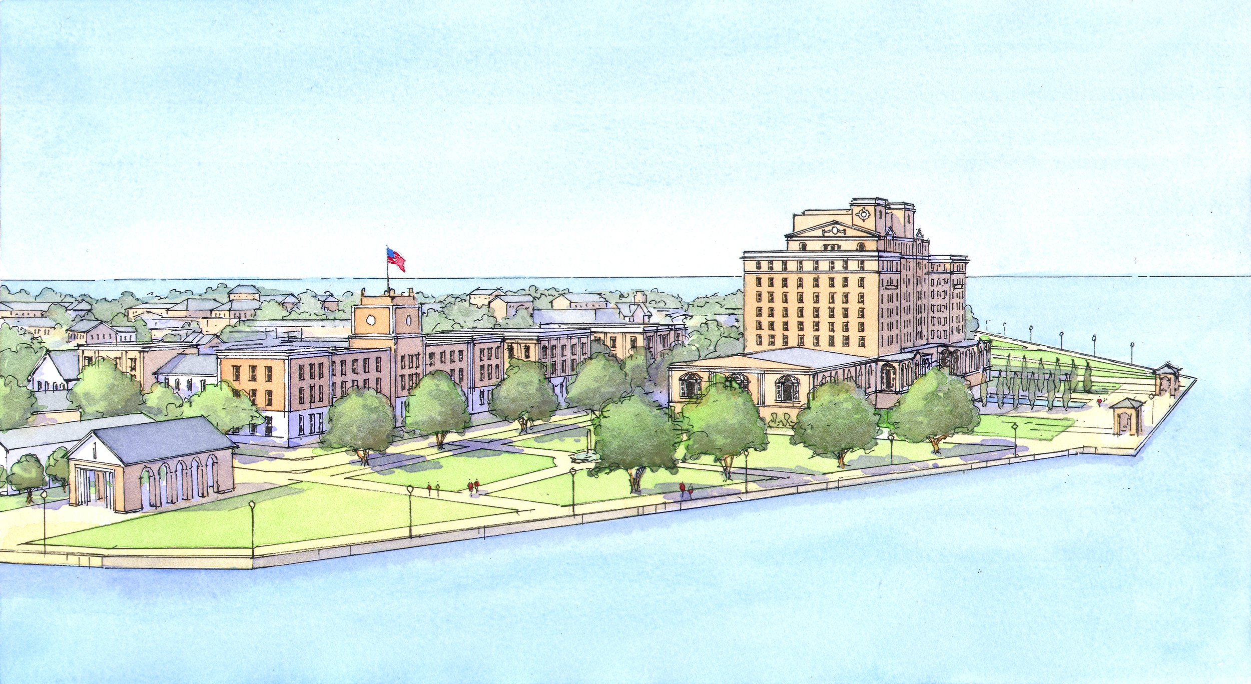 Low Birds-eye View of the Chamberlin from the water.jpg