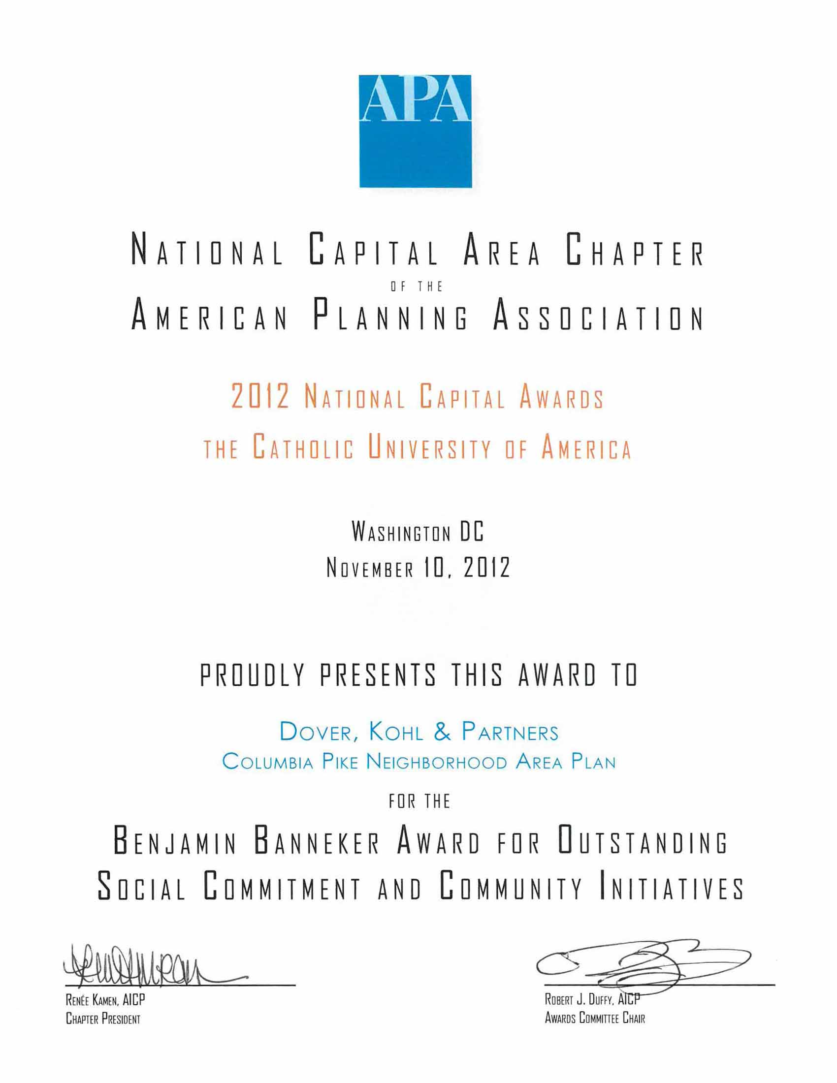 2012-APA-NC- Catholic University Of Ammerica- Benjamin Bannerker- Outstanding Social commitment and communityinitiatives.jpg