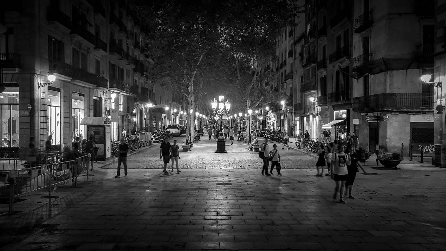 2-Twilight on Passeig del Born, #Barcelona, your streetoftheday. See page 83 of Street Design The Secret to Great Cities and Towns, november  21.jpg