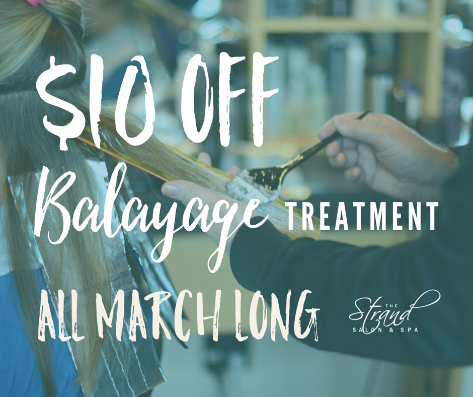 Balayage highlights: $10 off throughout the month of March. | The Strand Salon and Spa, Columbia MO