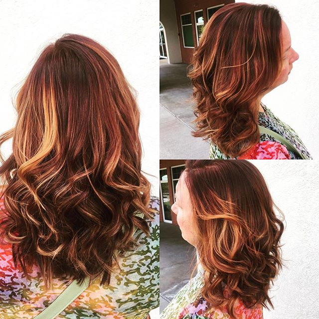 """Call me """"Copper"""" color done by @taylorrneacoleman!! #hair #hairstyles #haircolor #copper #curls #fallhair #highlights #aveda #redken #joico #beautiful #hairinspo"""