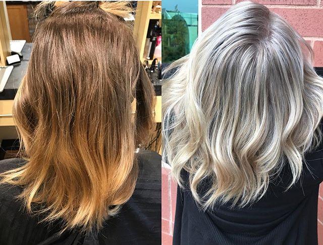 Blonde transformation by @allie_linder  #blonde #blondehair #blondegoals #highlights #babylights #licensedtocreate #hairmakeover #hairtransformation #beforeandafter #hairbeforeandafter #joico @joico #redken @redken #cosmoprofbeauty #behindthechair