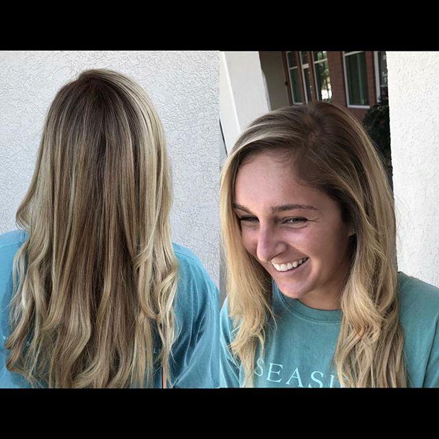 •low maintenance blonde•  By Aleigh M.  #blonde #blondebalayage #shadowroot #aveda @aveda #licensedtocreate #cosmoprofbeauty #cosmoprof #behindthechair #btc #hairgoals #hairofinstagram  #instahair #hairgoals