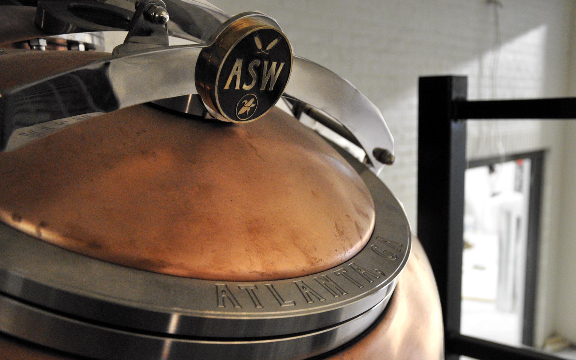 ASW Distillery - Atlanta craft whiskey _ brandy distillery - ASW Atlanta, GA up close on stills Nov 2015.jpg