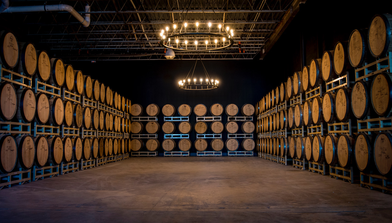 Our private barrel room