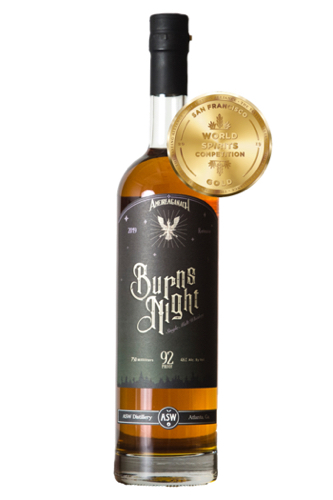 ASW Distillery - Atlanta's Hometown Bourbon Rye Malt Whiskey Distilery - Burns Night Single Malt Gold Medal San Francisco World Spirits Competition 2019 - white background 500px tall.jpg