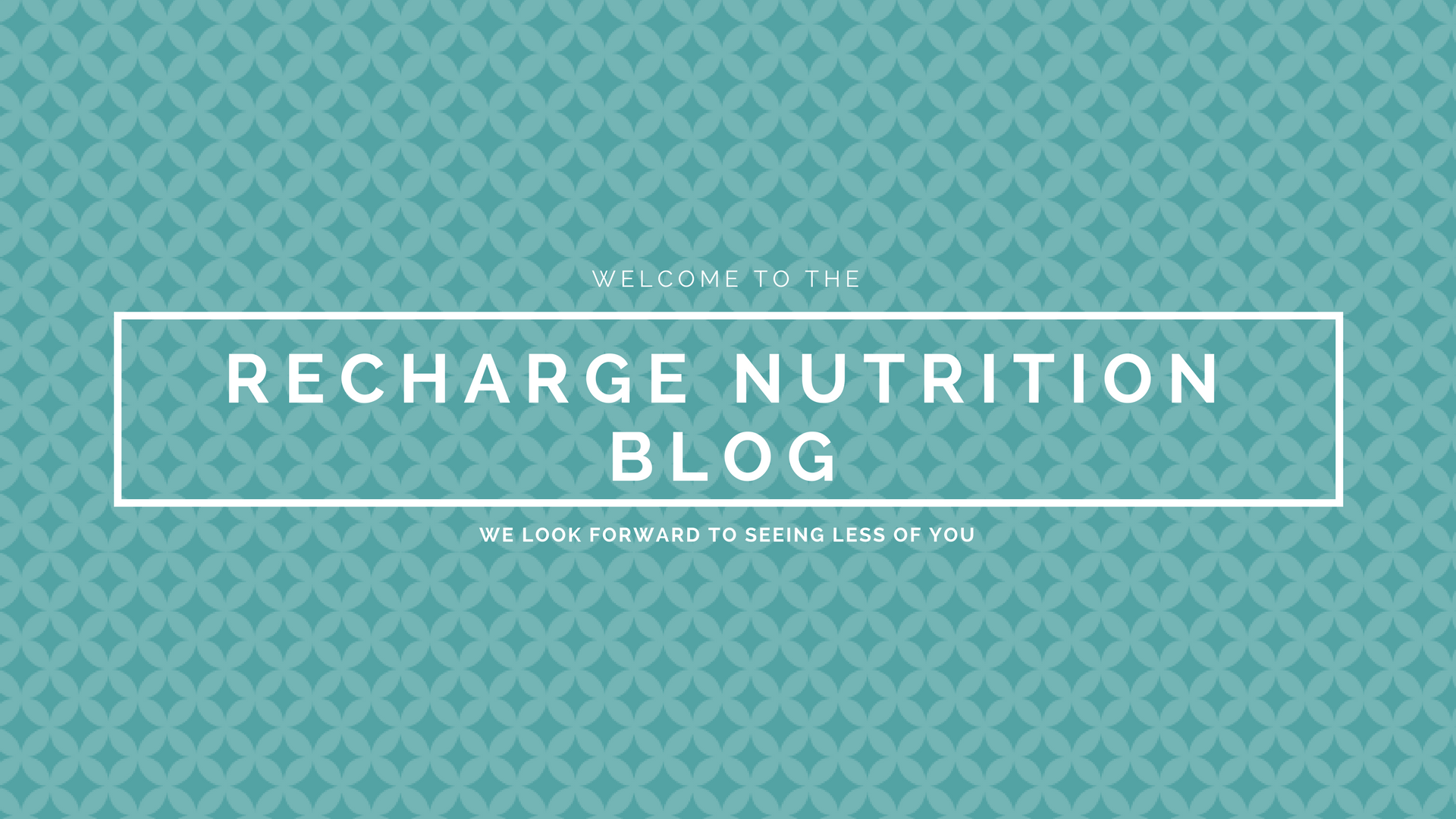 Recharge Nutrition Blog - Header (Teal Pattern)