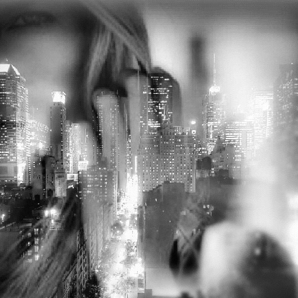 NYC and eye. #paintedbylight #blackandwhite