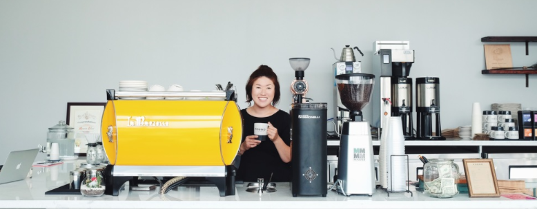 Annie Choi, Founder and Owner of Found Coffee in Eagle Rock, Los Angeles.