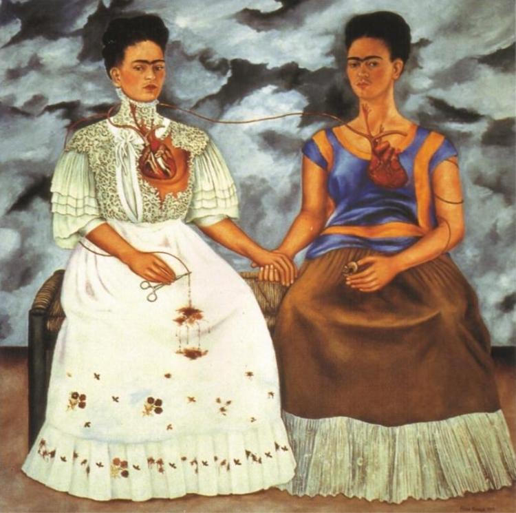 The Two Fridas/Las dos Fridas   (1939) by Frida Kahlo