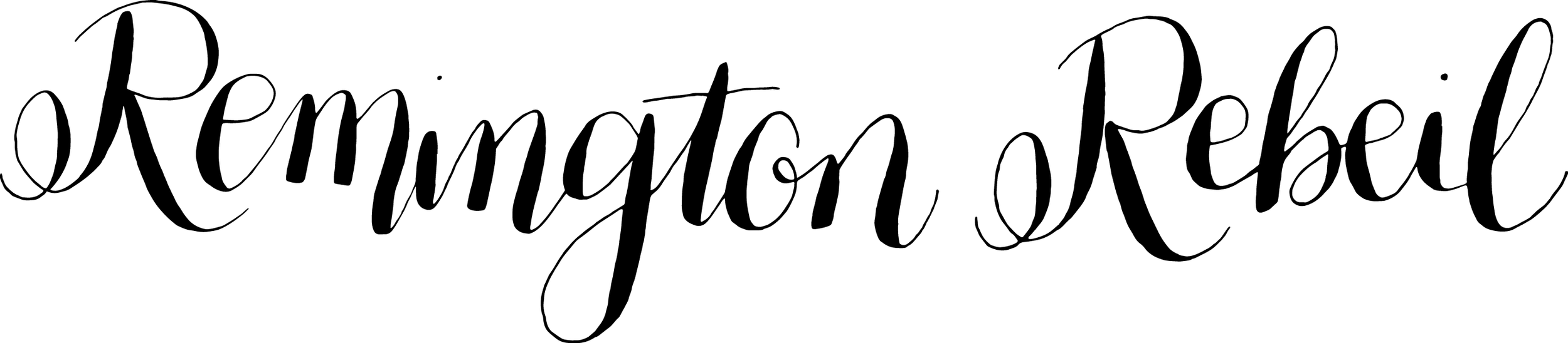 Calligraphy Logo Name for a Client - Pointed Pen
