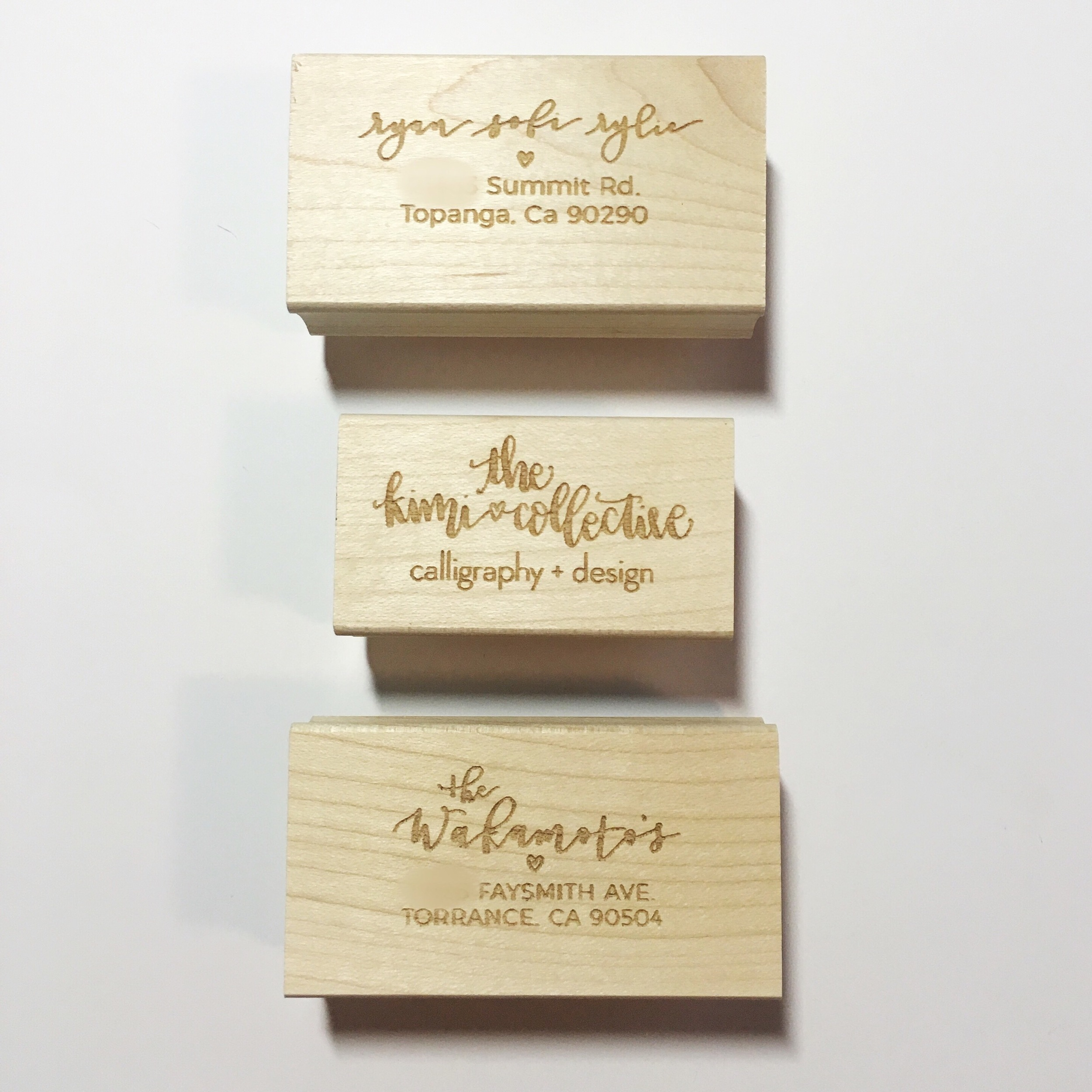 custom return address and business stamps