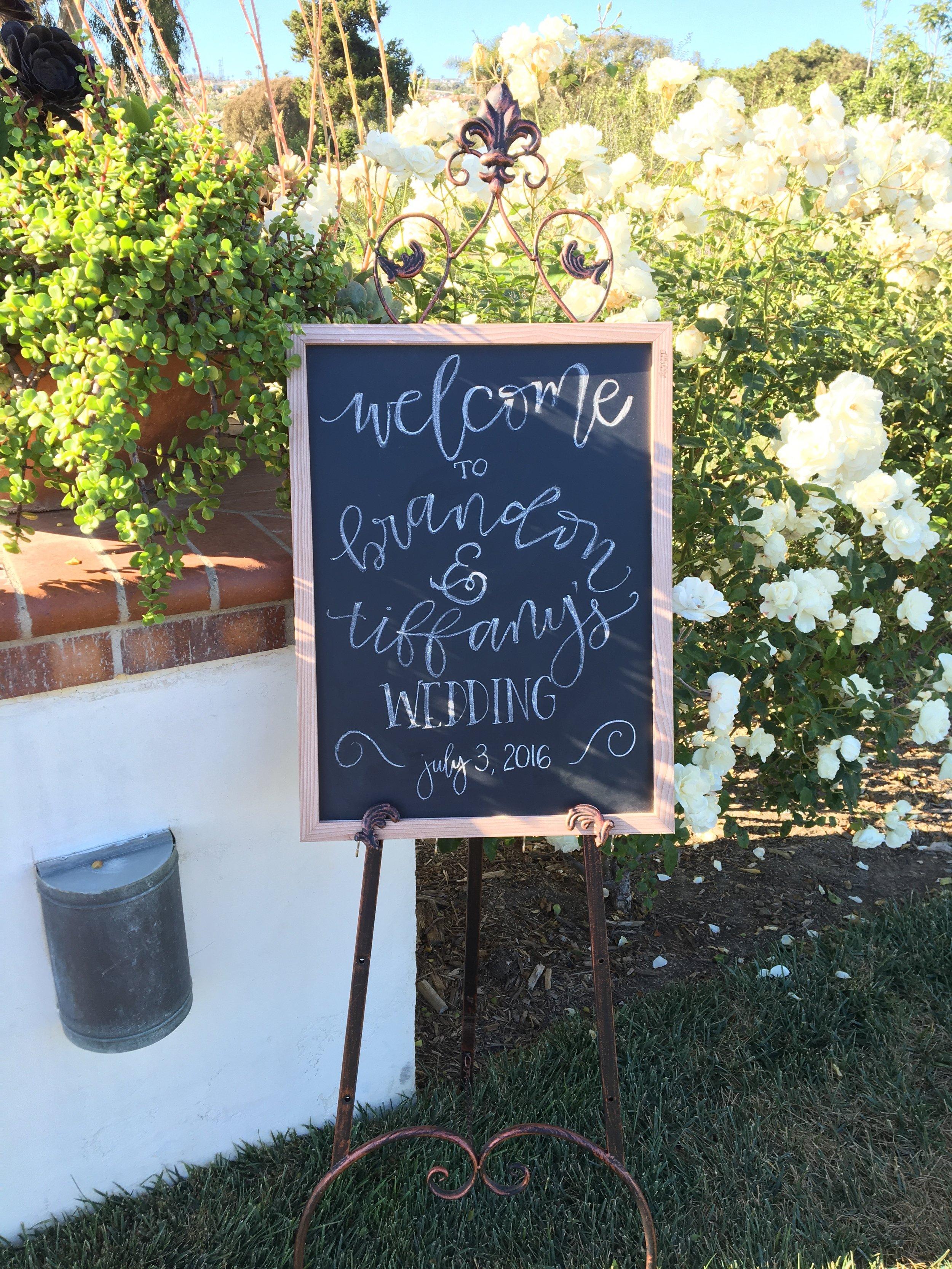chalkboard sign materials: chalk, chalkboard