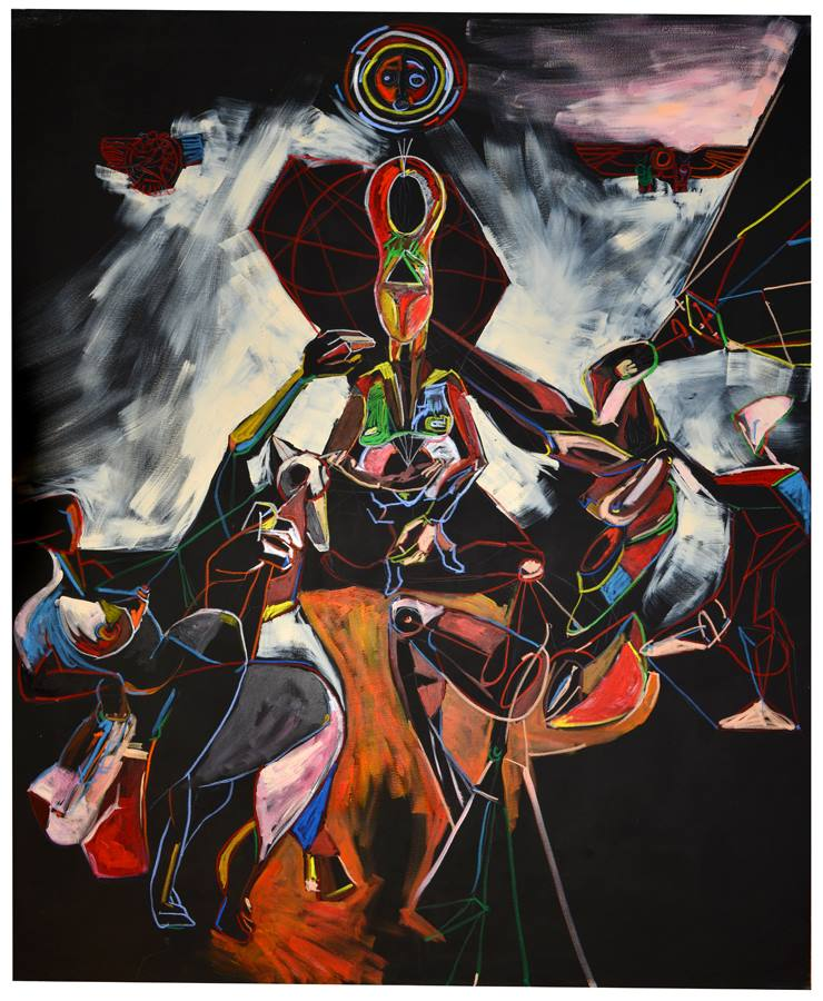 Afrika, 201 x 163 cm, mešana tehnika, 2013