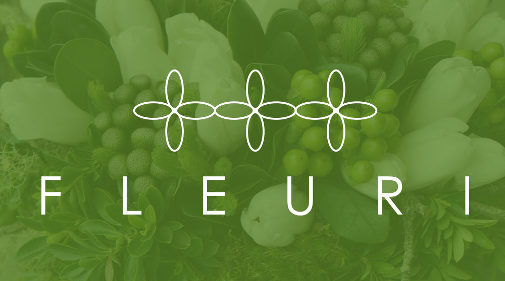 Fleuri creates elegant florals and container gardens in both residential and commercial settings, and as such wanted a simple geometrically based logo that would go with any flower, greenery or color. The simple repeat of abstract budding flowers with spaced lettering is memorable and modern ... just like the designs Fleuri produces.