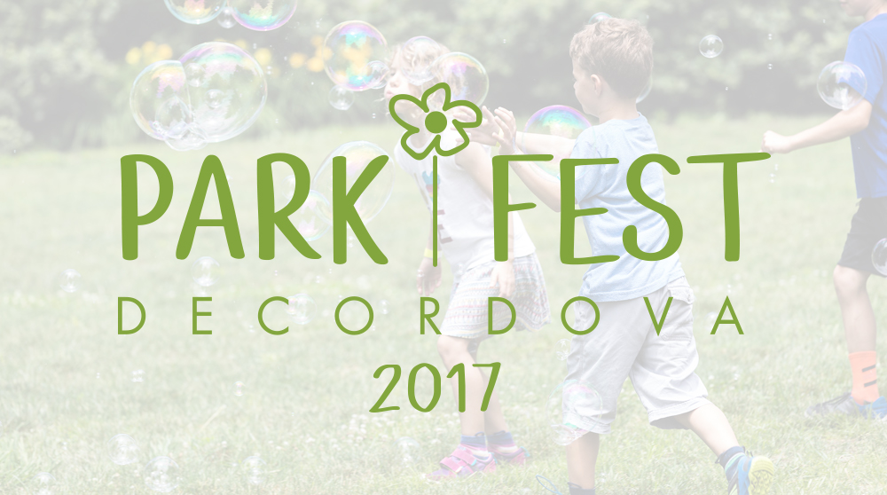 ThIS logO, Designed for PARKFEST (a child-friendly event held EACH SUMMER at the deCordova) IS INtended to bE whimsical and fun.