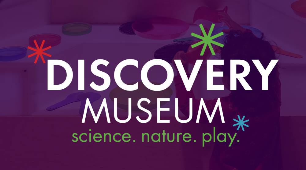 This new Discovery Museum logo visually represents a changed and expanded experience; the use of sparks suggests a mindful evolution from the old logo to the new. The sparks themselves represent the museum's long-standing mission to  spark  discovery and learning through hands-on inquiry and scientific investigation. A refreshed color palette offers a more broad and mature - yet still fun and playful - look.
