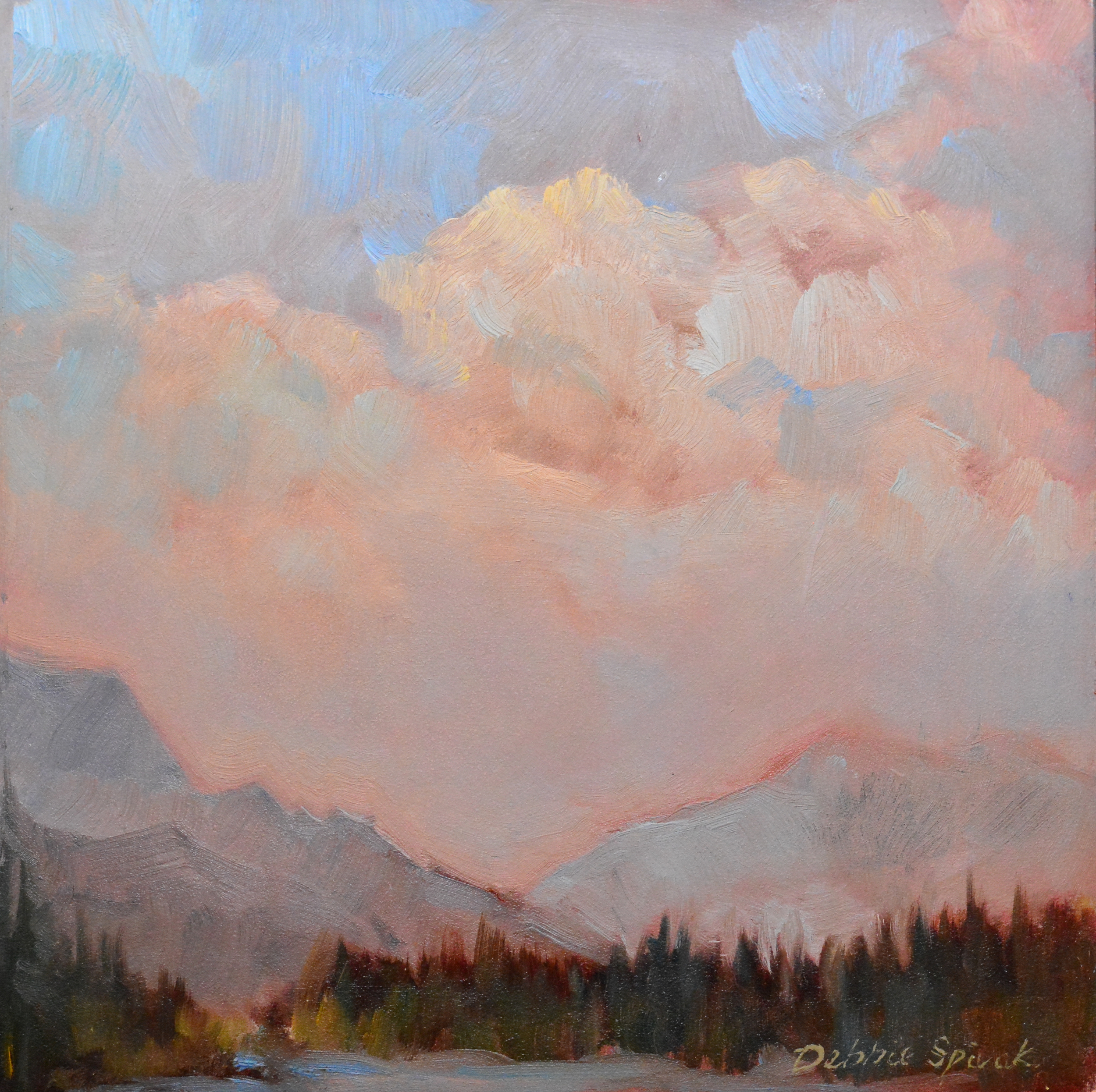 Mountain Haze - 8x8 oil