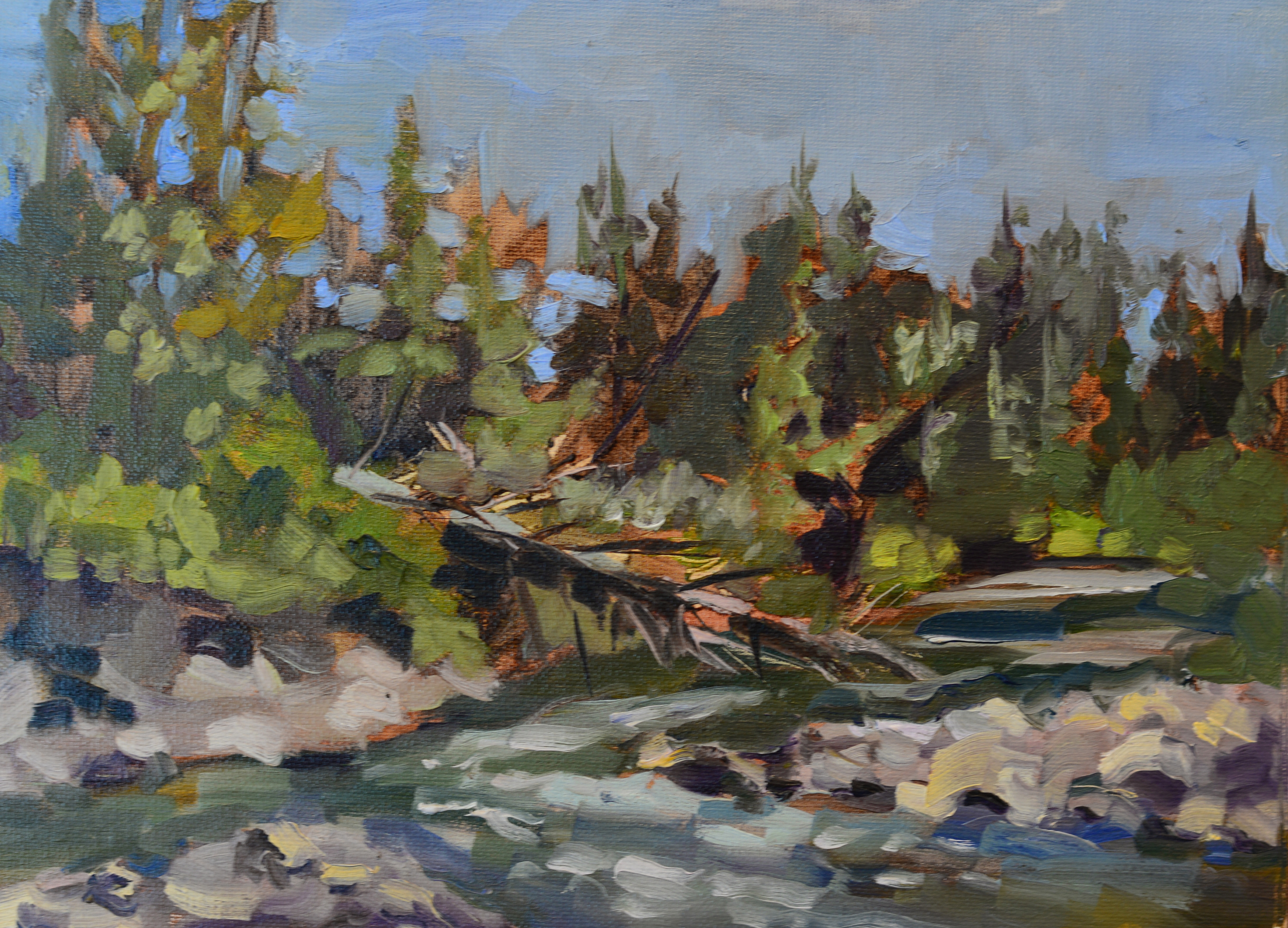 Evening at Fish Creek 2 - 9x12 oil