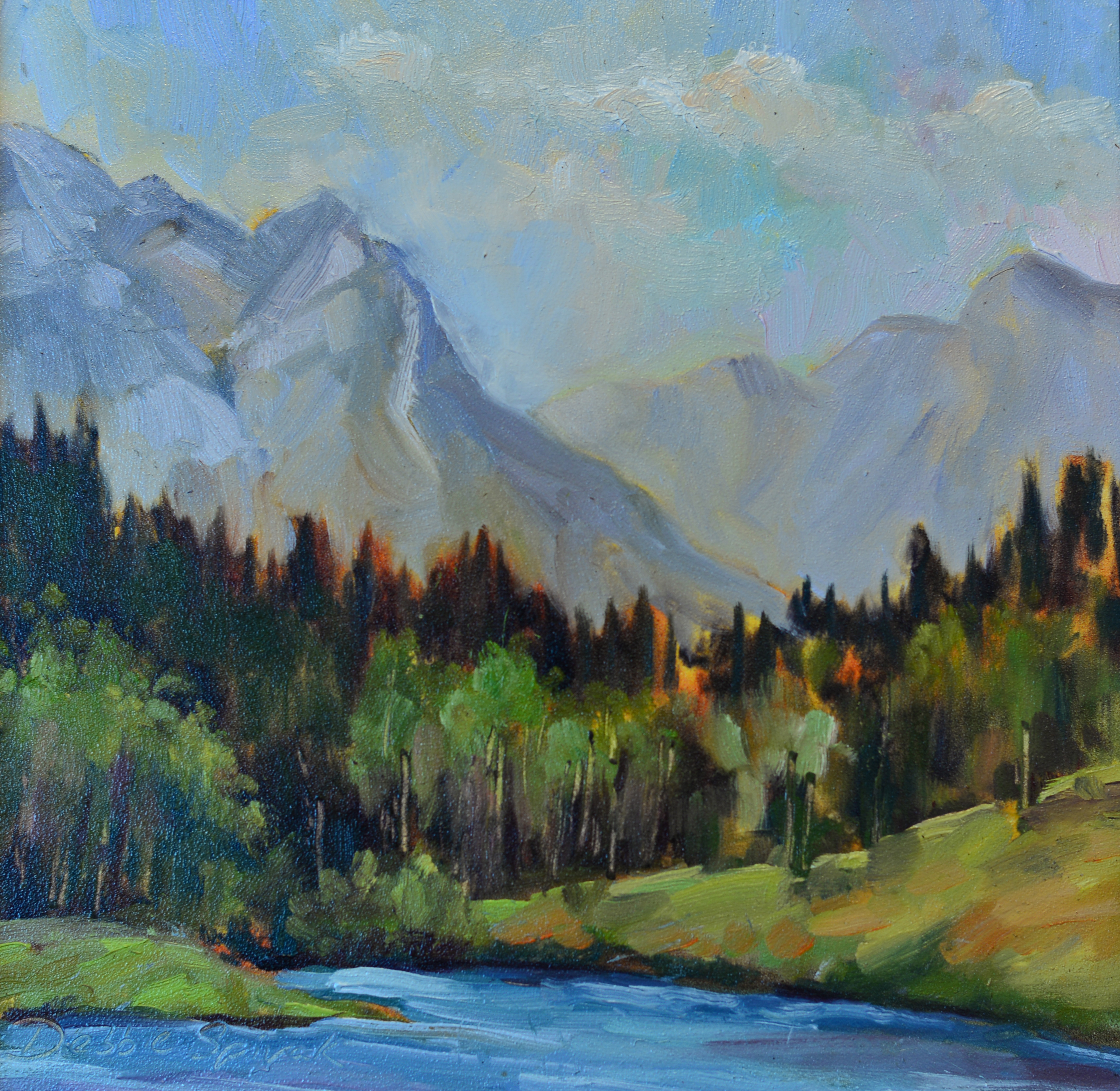 The Edge of the Rockies - 12x12 oil