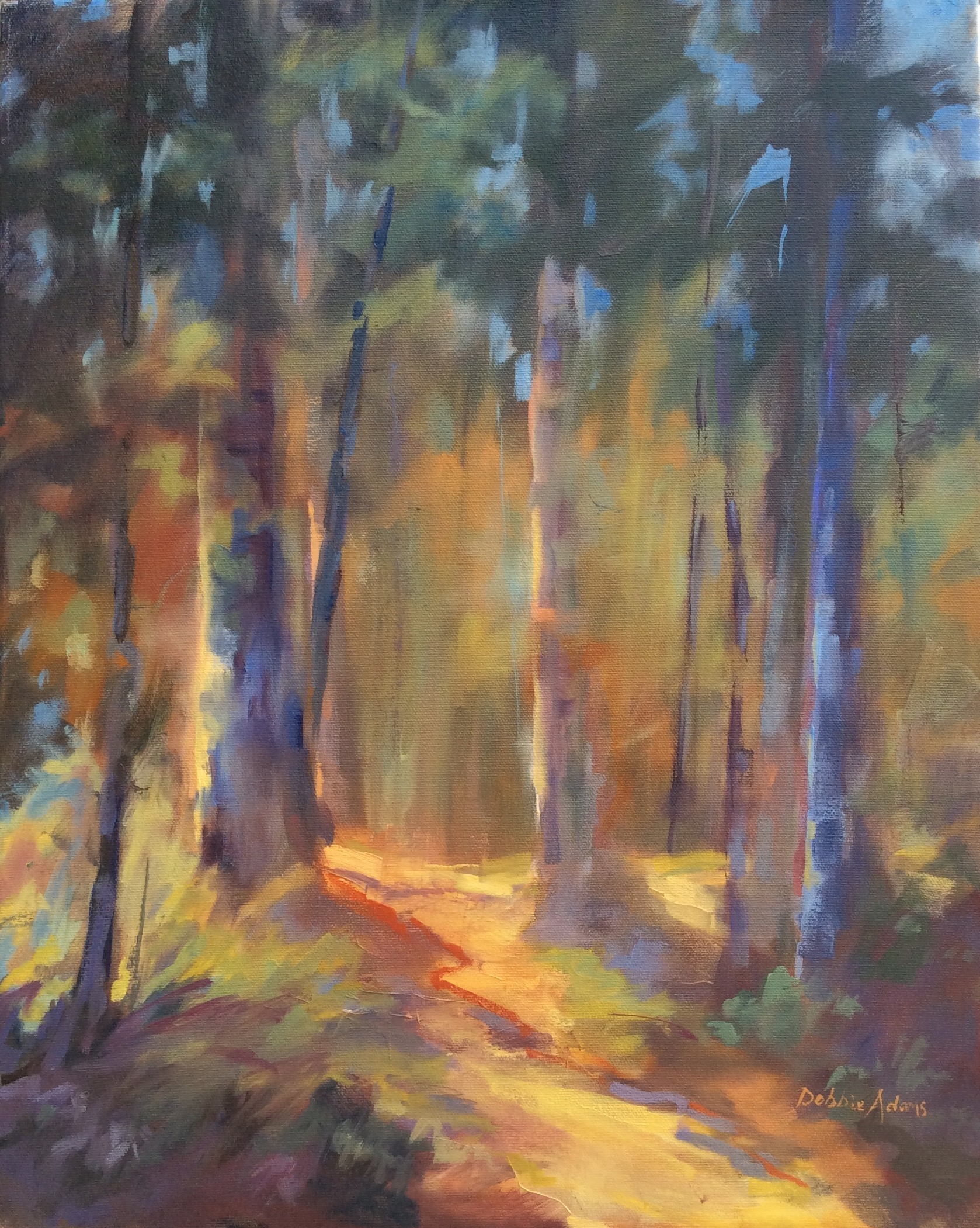 Among the Golden Light - 20x18 oil