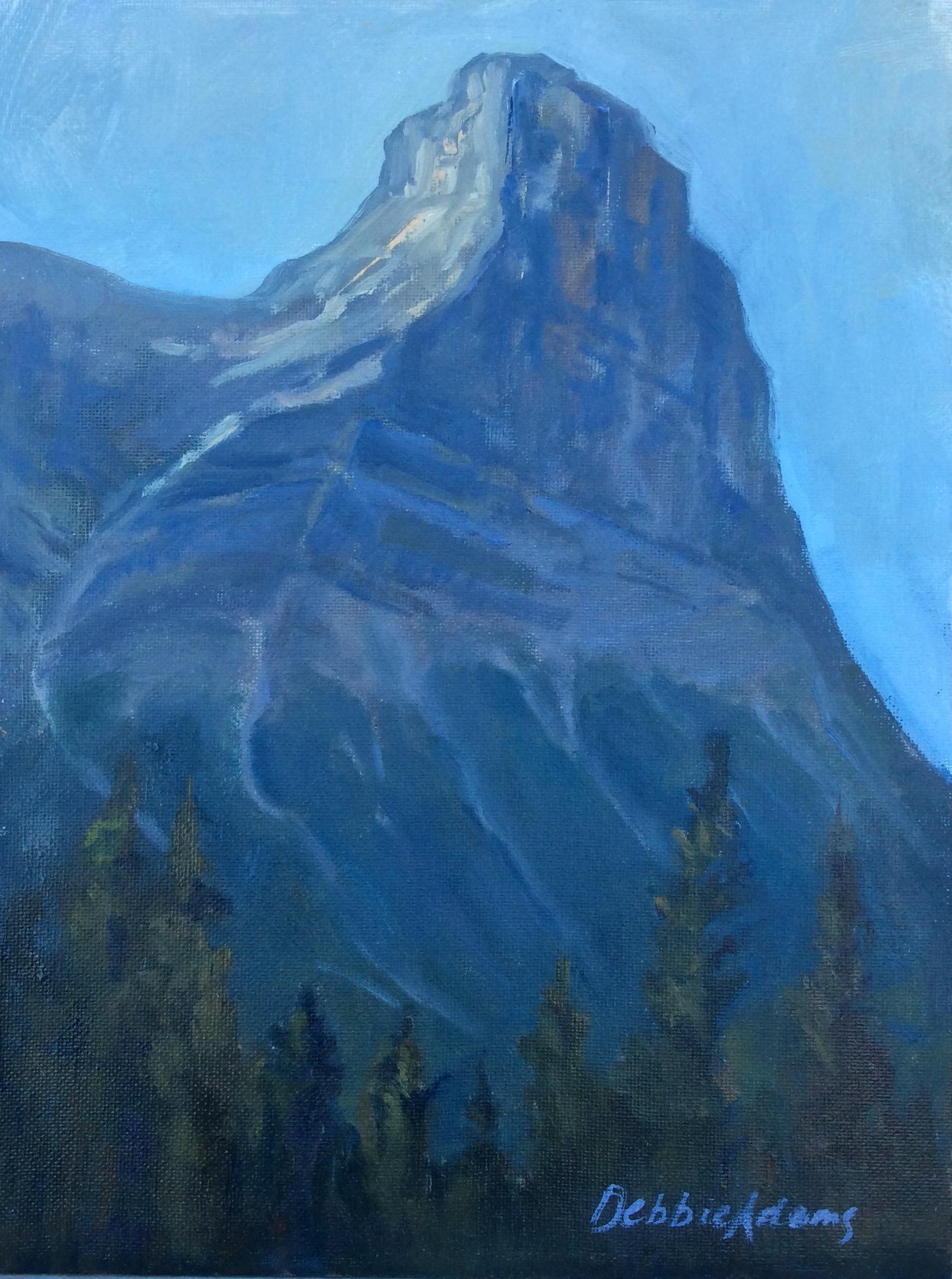 Ha Ling Peak 9x12 Oil