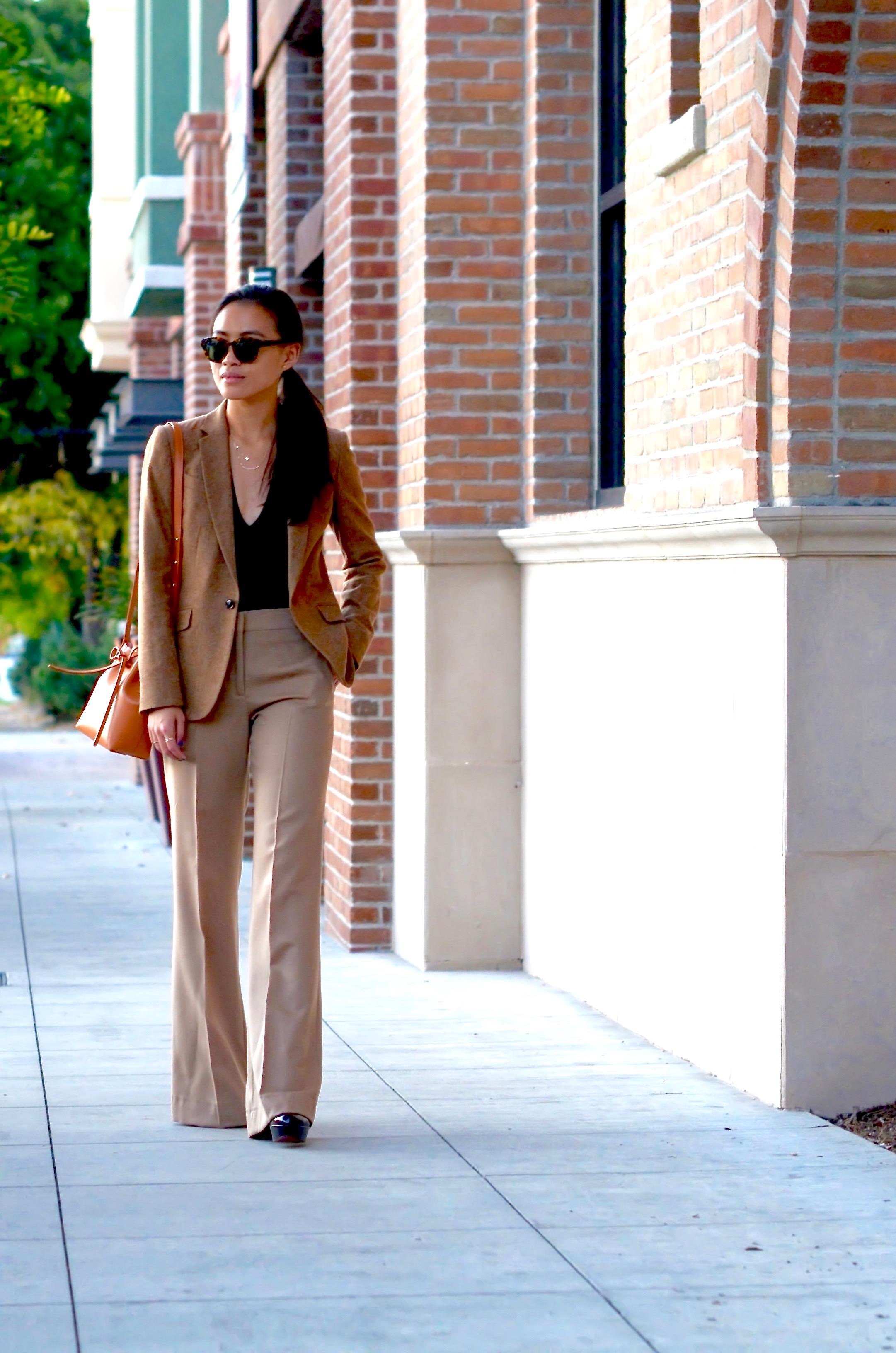 Just Goh With It-Outfit-shopstyle-dressforsuccess-zara-camel-wide-leg-pants-massimo-dutti-blazer-mansur-gavriel-mini-bucket-bag-4.jpg