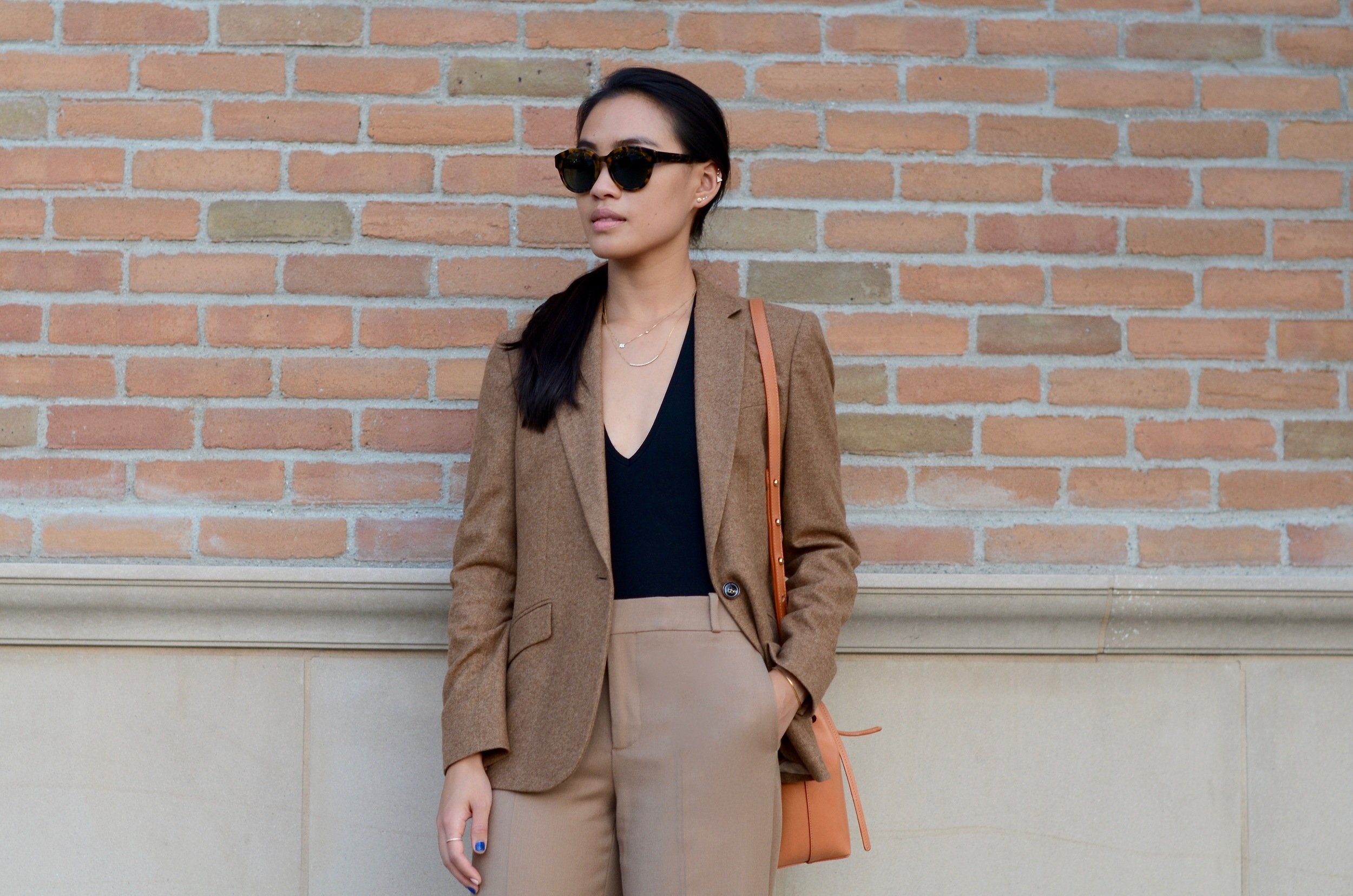 Just Goh With It-Outfit-shopstyle-dressforsuccess-zara-camel-wide-leg-pants-massimo-dutti-blazer-mansur-gavriel-mini-bucket-bag-7.jpg