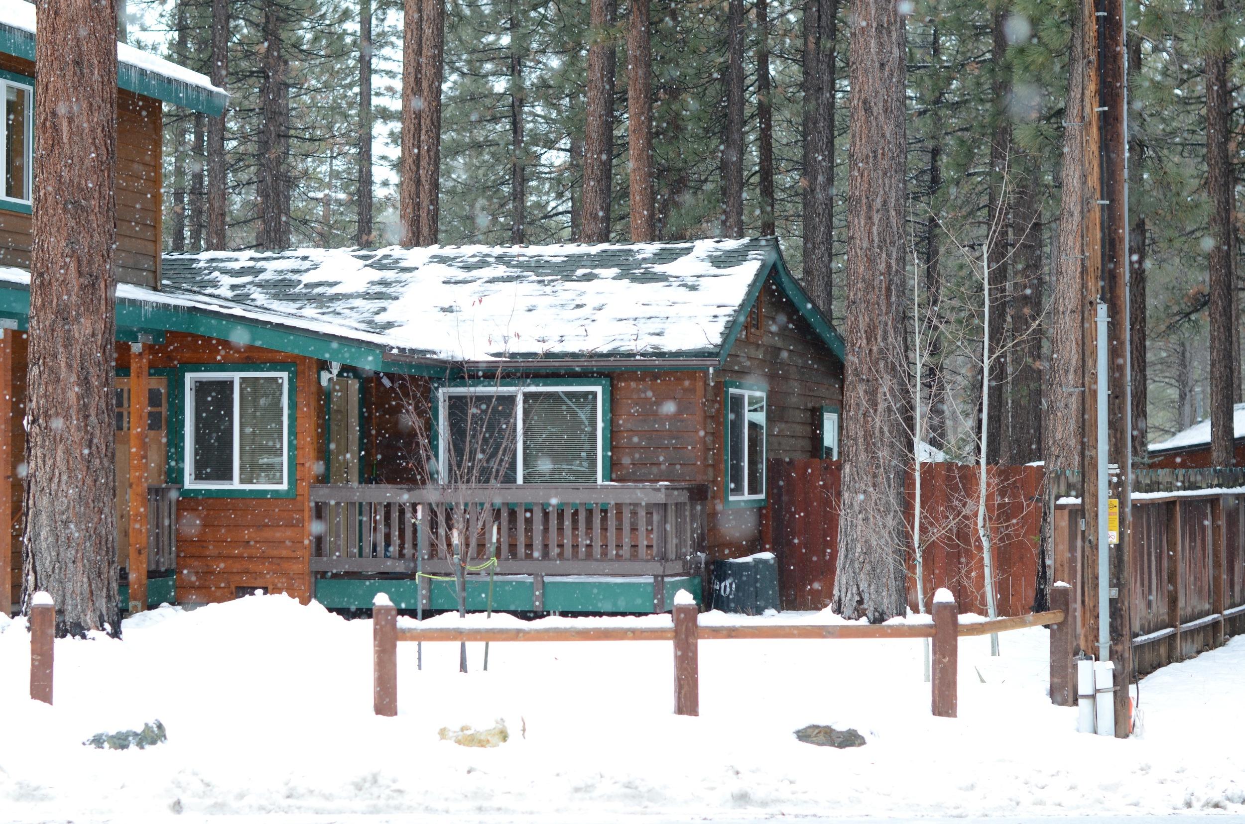 Rustic cabins everywhere.