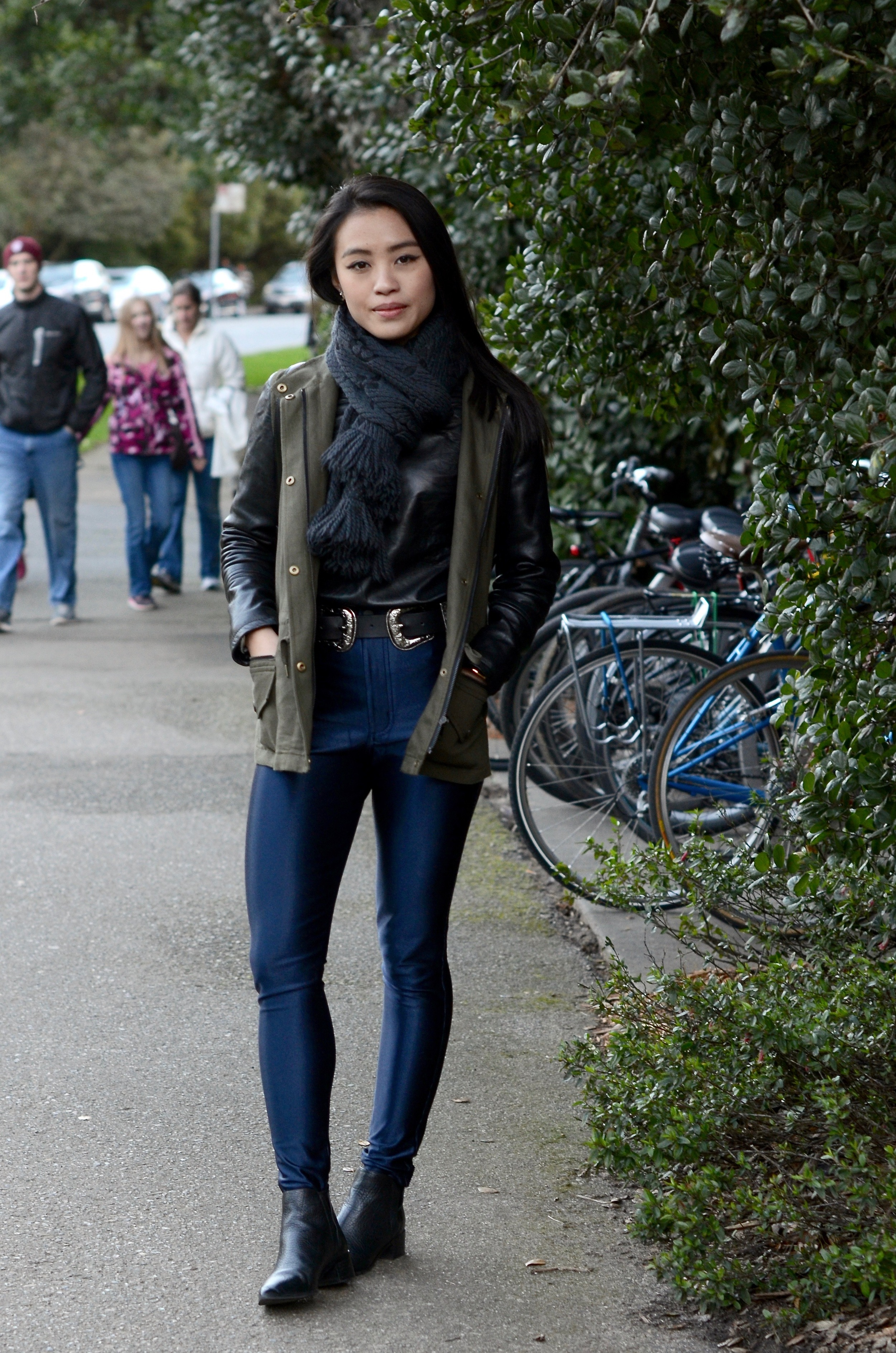 Just Goh With It-Outfits-club-monaco-parka-american-apparel-disco-metallic-pants-b-low-the-belt-all-saints-over-the-knee-boots-louis-vuitton-scarf-4.jpg