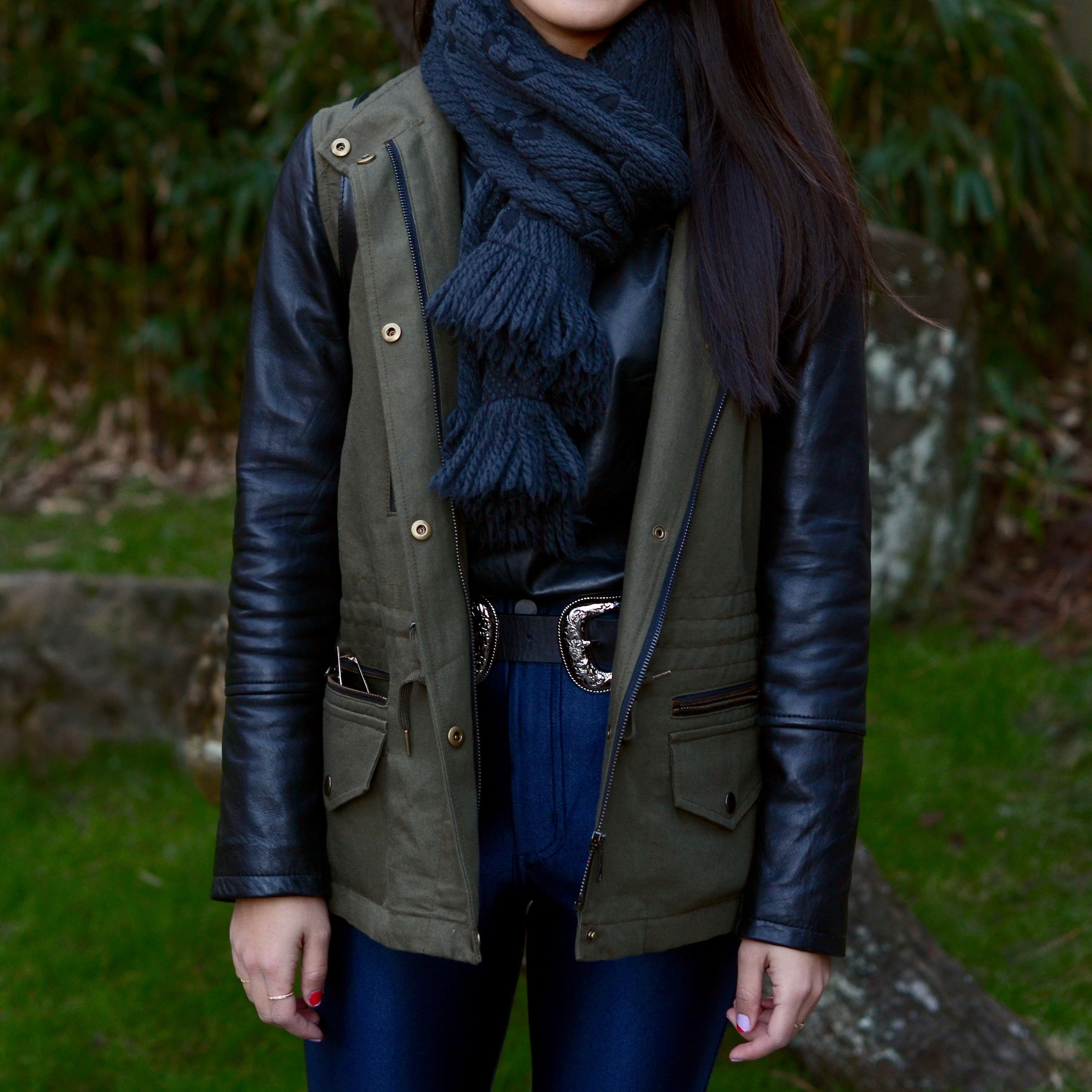 Just Goh With It-Outfits-club-monaco-parka-american-apparel-disco-metallic-pants-b-low-the-belt-all-saints-over-the-knee-boots-louis-vuitton-scarf-6.jpg