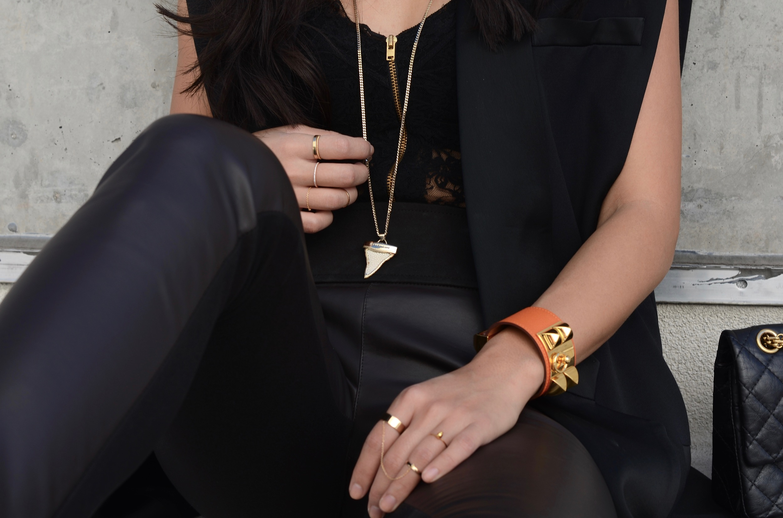 Just Goh With It-Outfit-black-lanvin-cutout-ankle-boots-hm-balmain-sleeveless-blazer-leather-chanel-classic-5.jpg