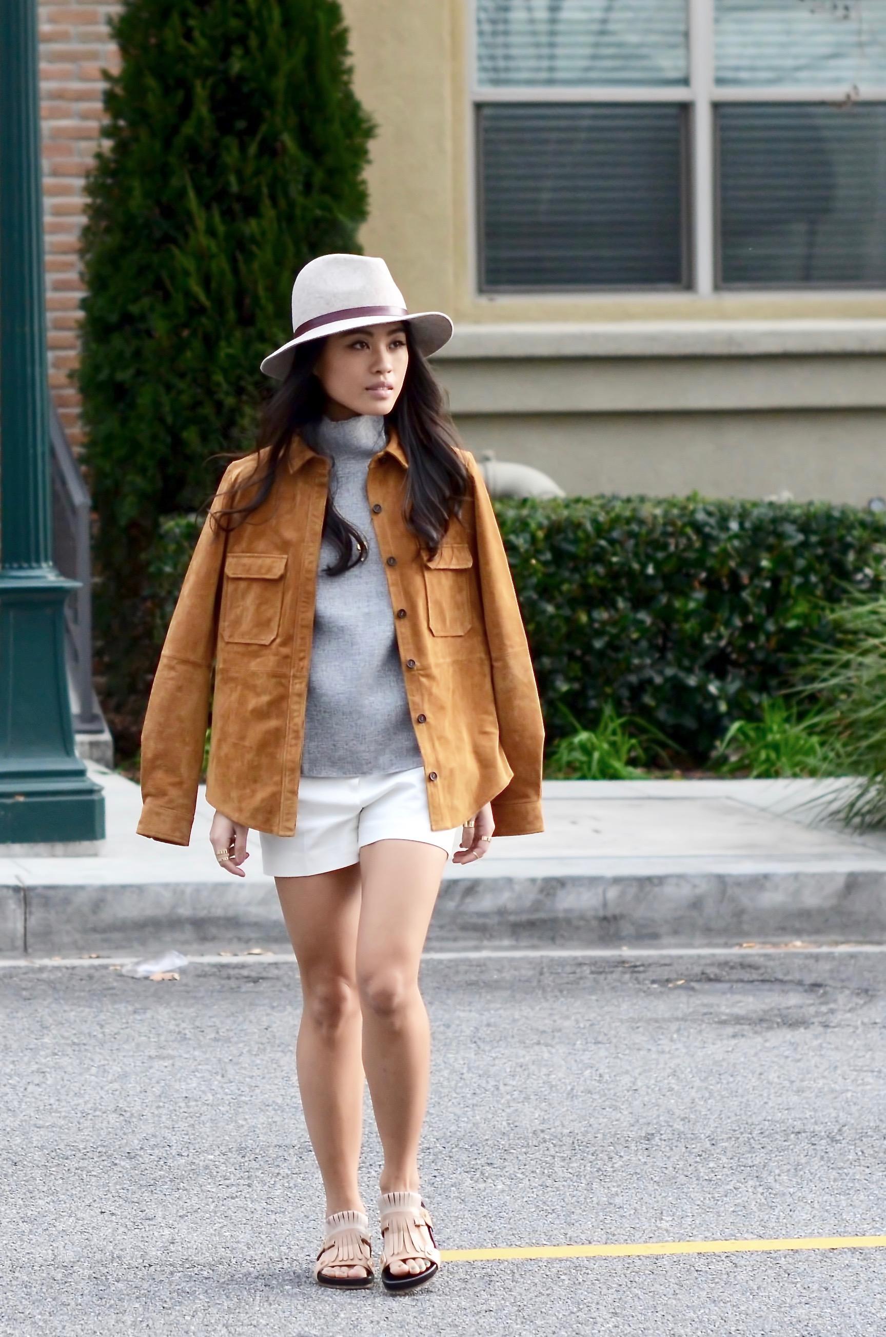 Just Goh With It-Outfits-Suede-jacket-mockneck-hat-chloe-fringe-sandals-7.jpg
