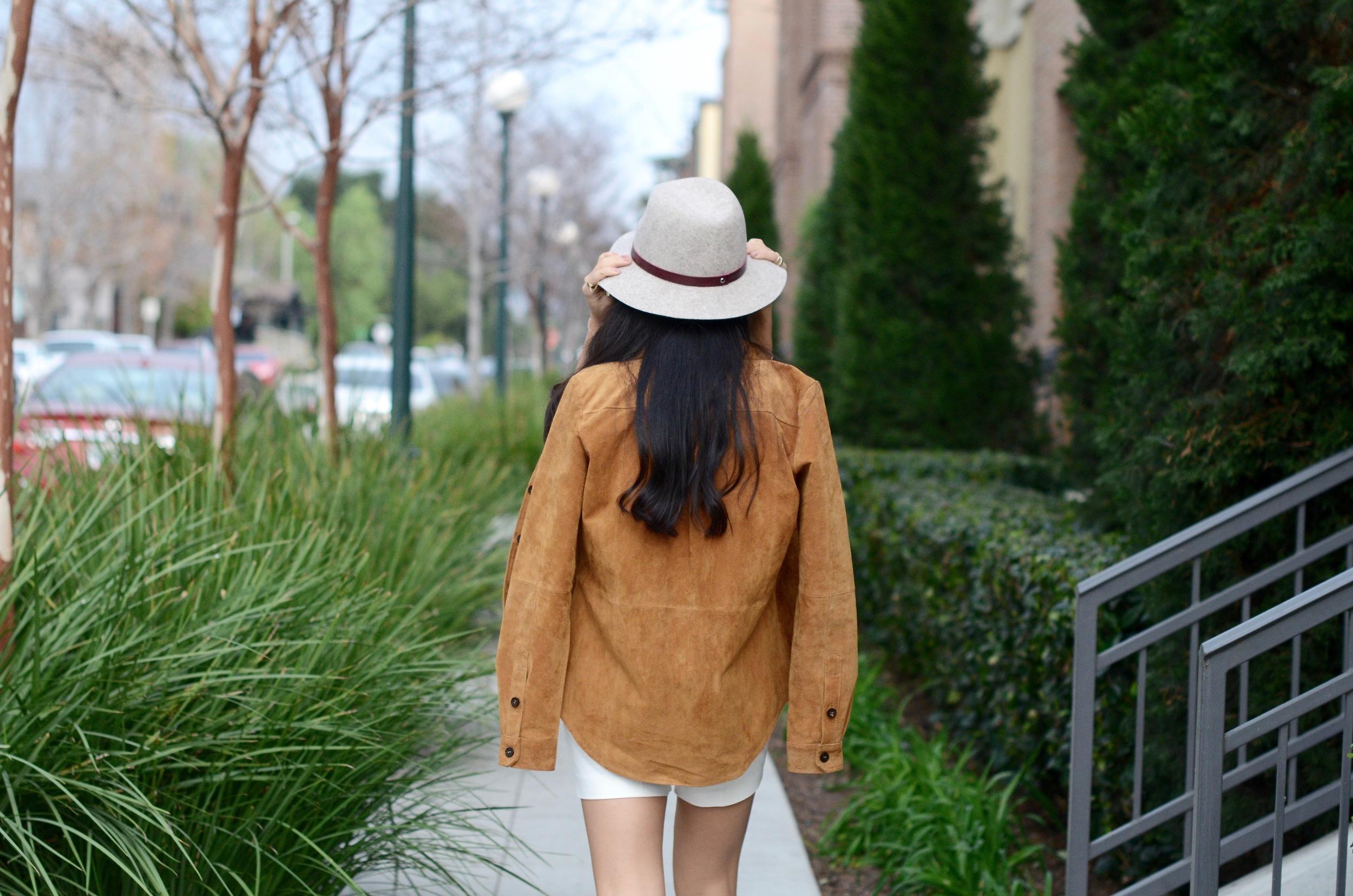 Just Goh With It-Outfits-Suede-jacket-mockneck-hat-chloe-fringe-sandals-8.jpg