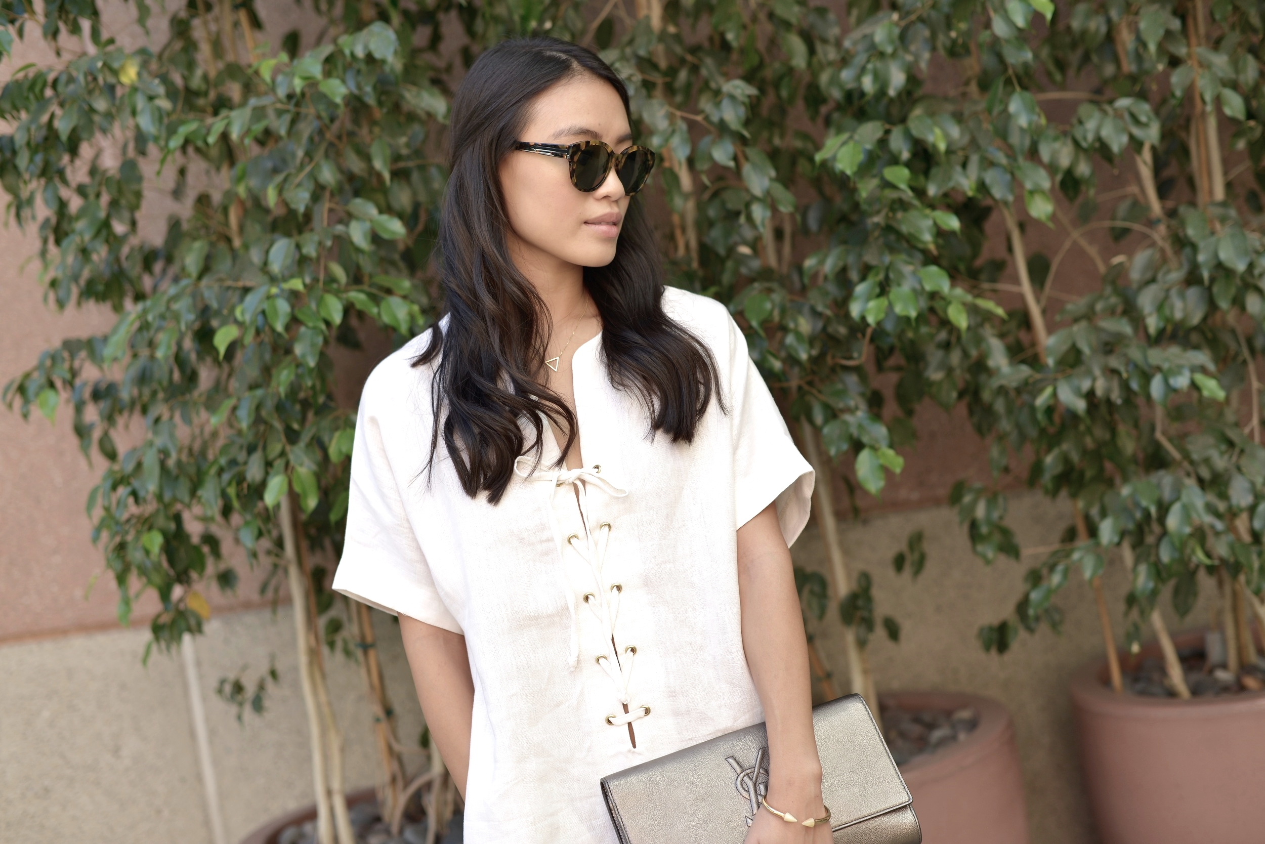 Just Goh With It-Outfits-Reformation-lace-up-dress-chanel-espadrilles-saint-laurent-clutch-2.jpg