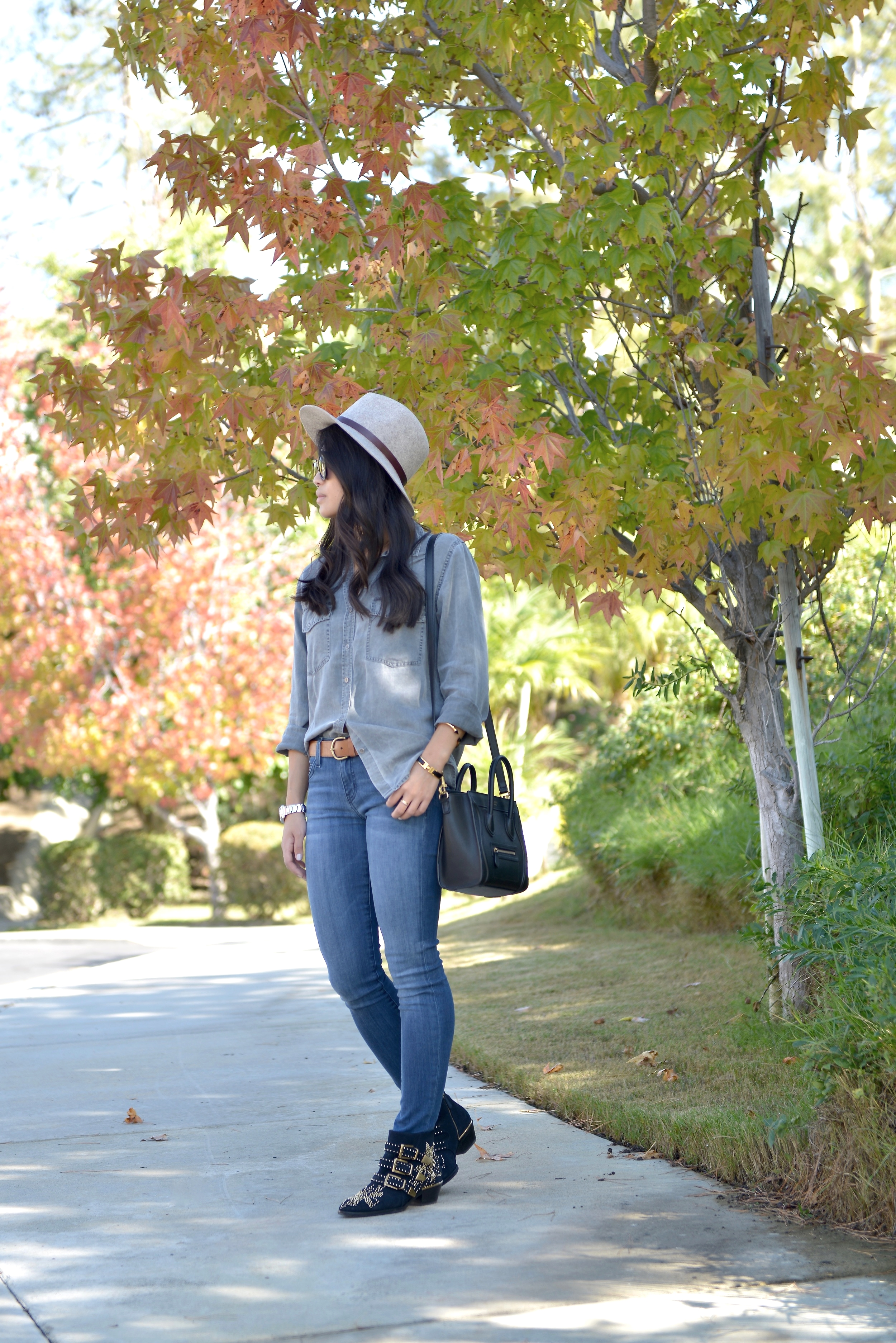 Just Goh With It-Outfit-Current-Elliott-Shirt-Blue-Jeans-Chloe-Susanna-Ankle-Boots-5.jpg
