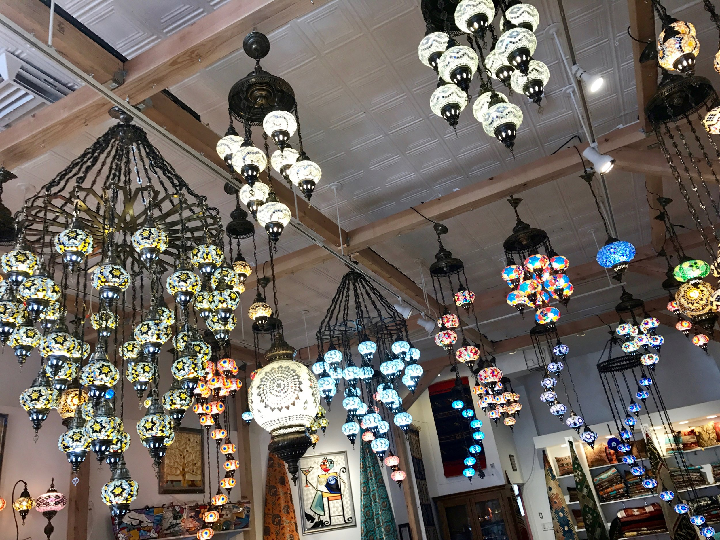 a moroccan light shop