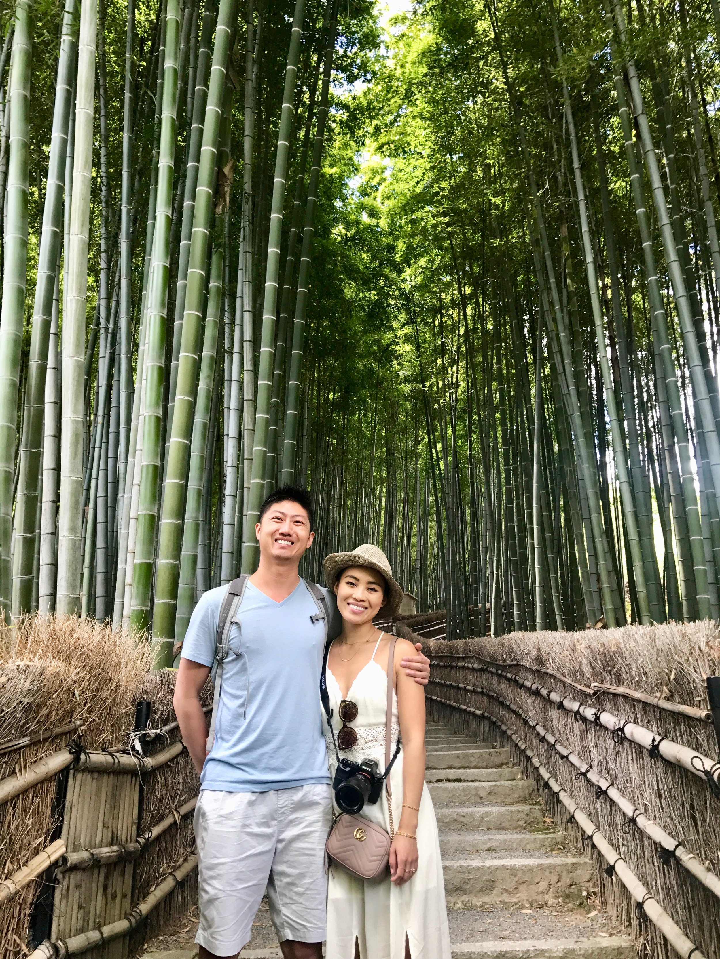 a much more pleasant bamboo forest - there was only one other person on this trail!! We walked this path on our way to  Adashino-Nembutsu-ji  Temple.